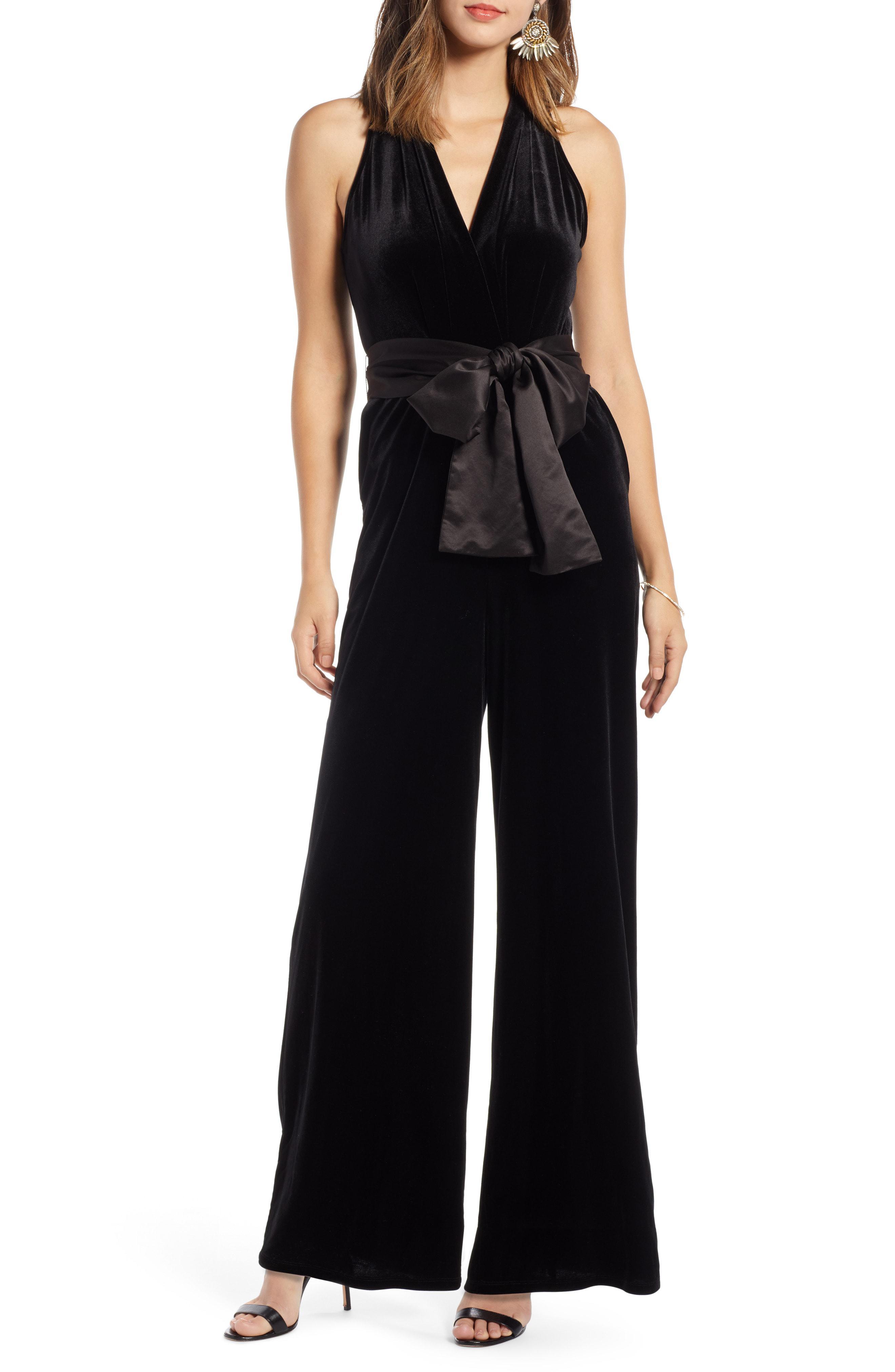cf7699ee155 Lyst - Nordstrom 1901 Velvet Jumpsuit in Black