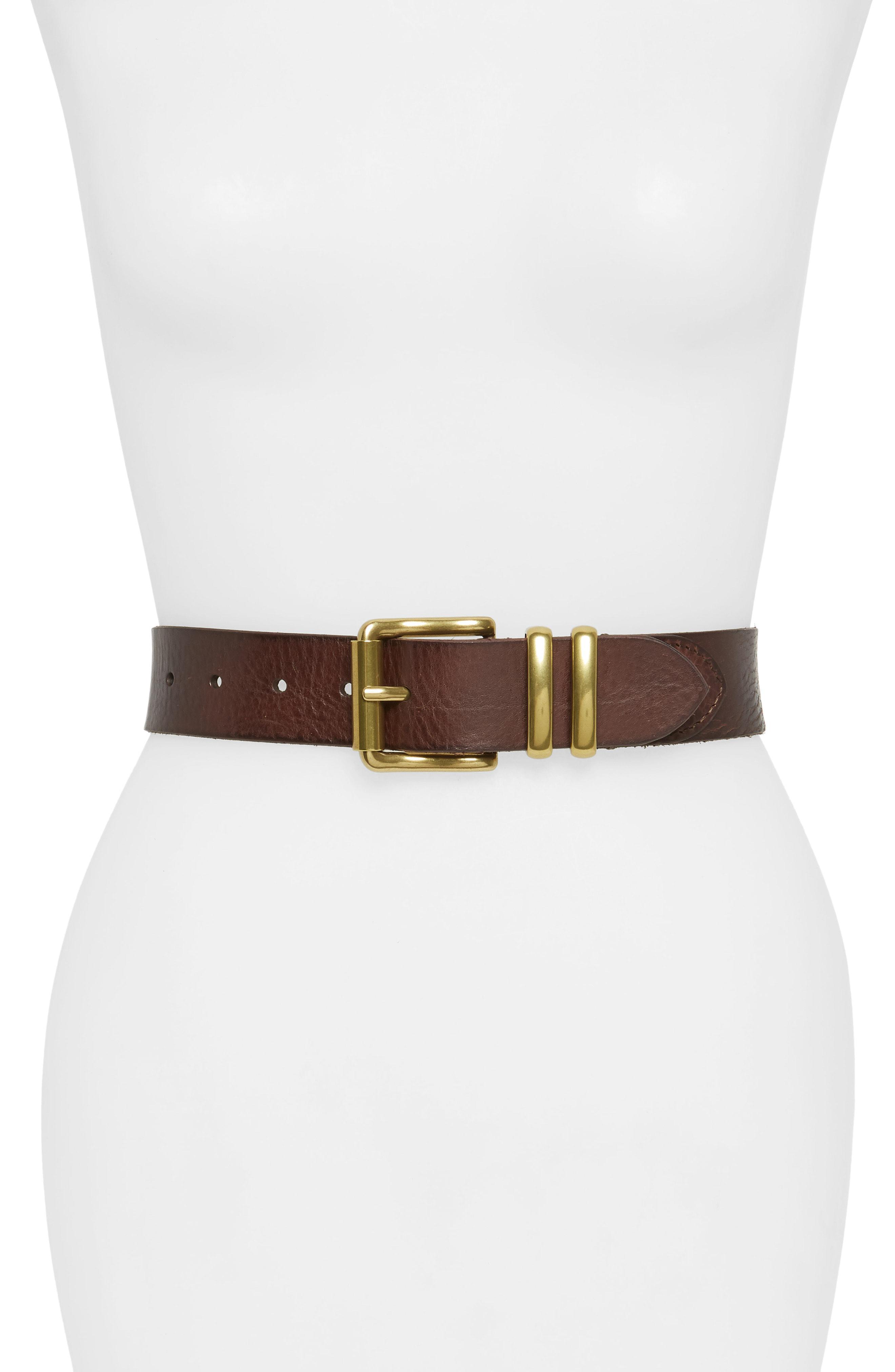 MONIQUE Men Western Horseshoe Buckle Braided Leather Dress 30mm Wide Belt