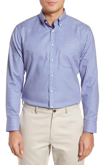 Lyst nordstrom trim fit non iron gingham dress shirt in for Nordstrom custom dress shirts