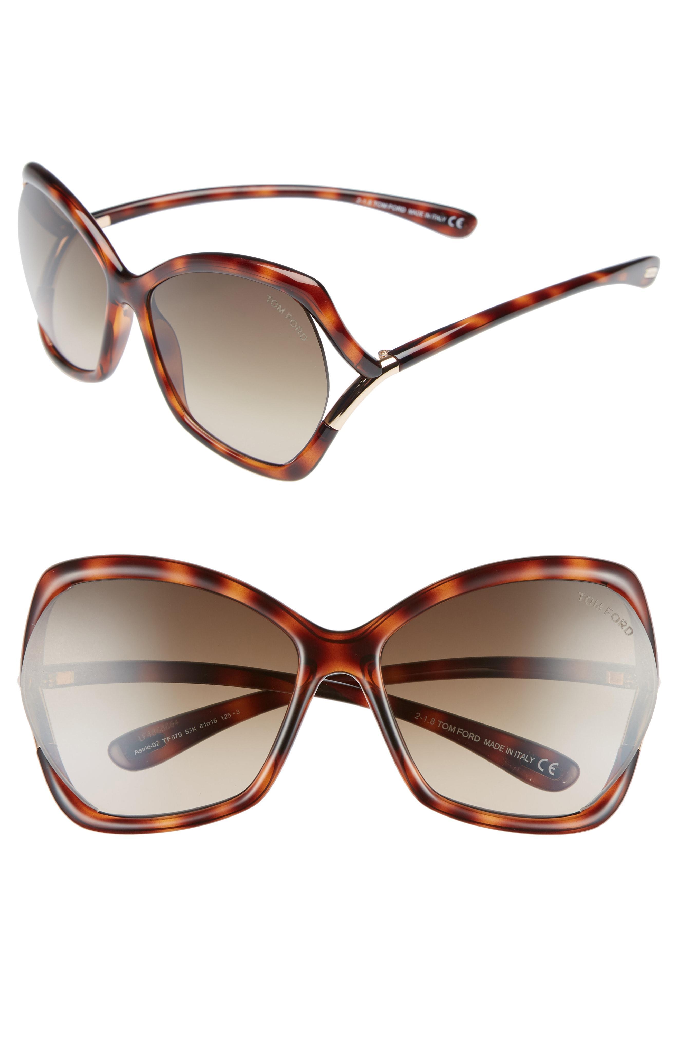 4efd90fae66e Tom Ford - Multicolor Astrid 61mm Geometric Sunglasses - Havana  Rose Gold   Roviex -. View fullscreen