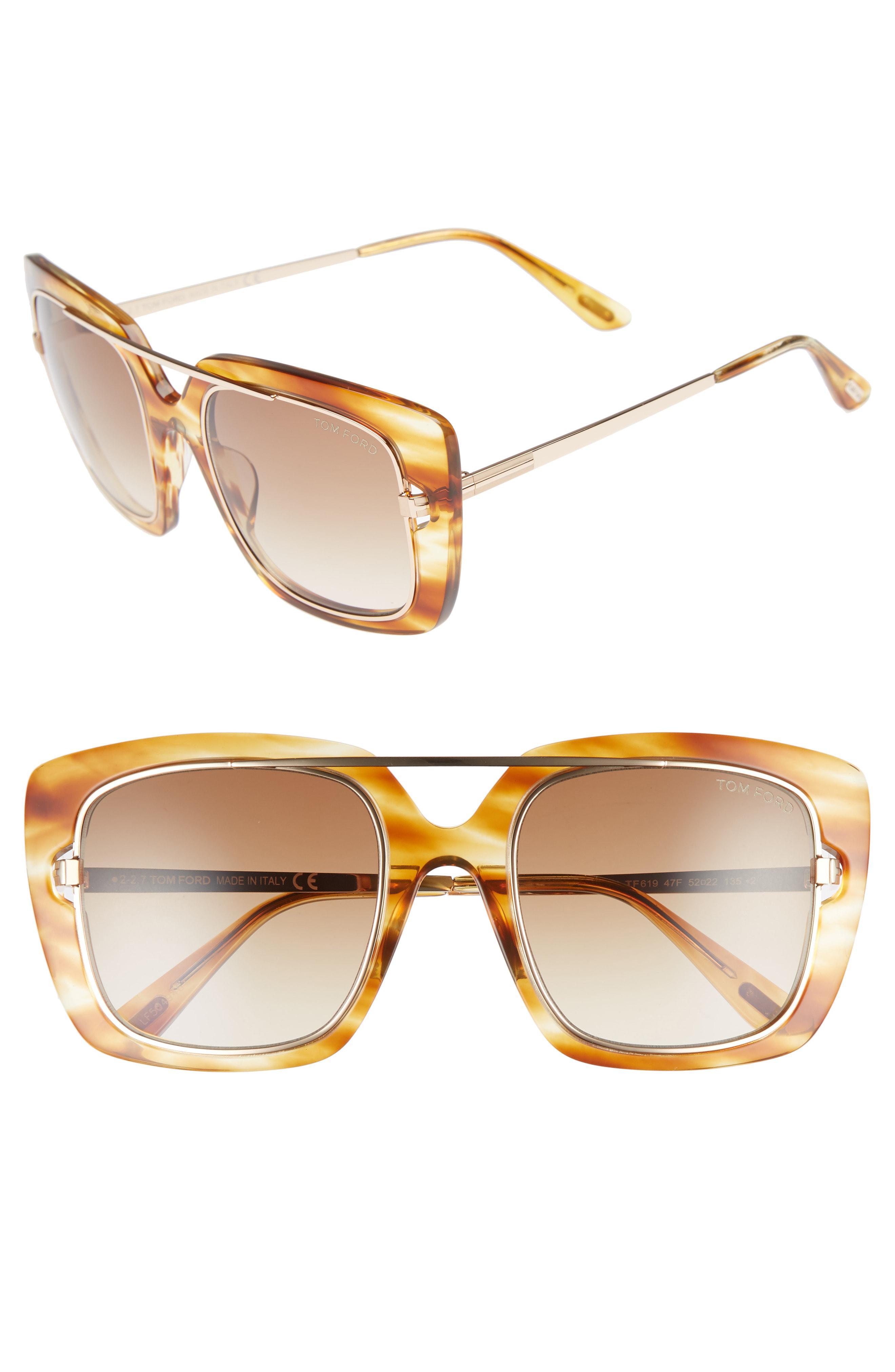 63ecb566aa Tom Ford - Marissa 52mm Sunglasses - Light Brown  Gradient Brown - Lyst.  View fullscreen