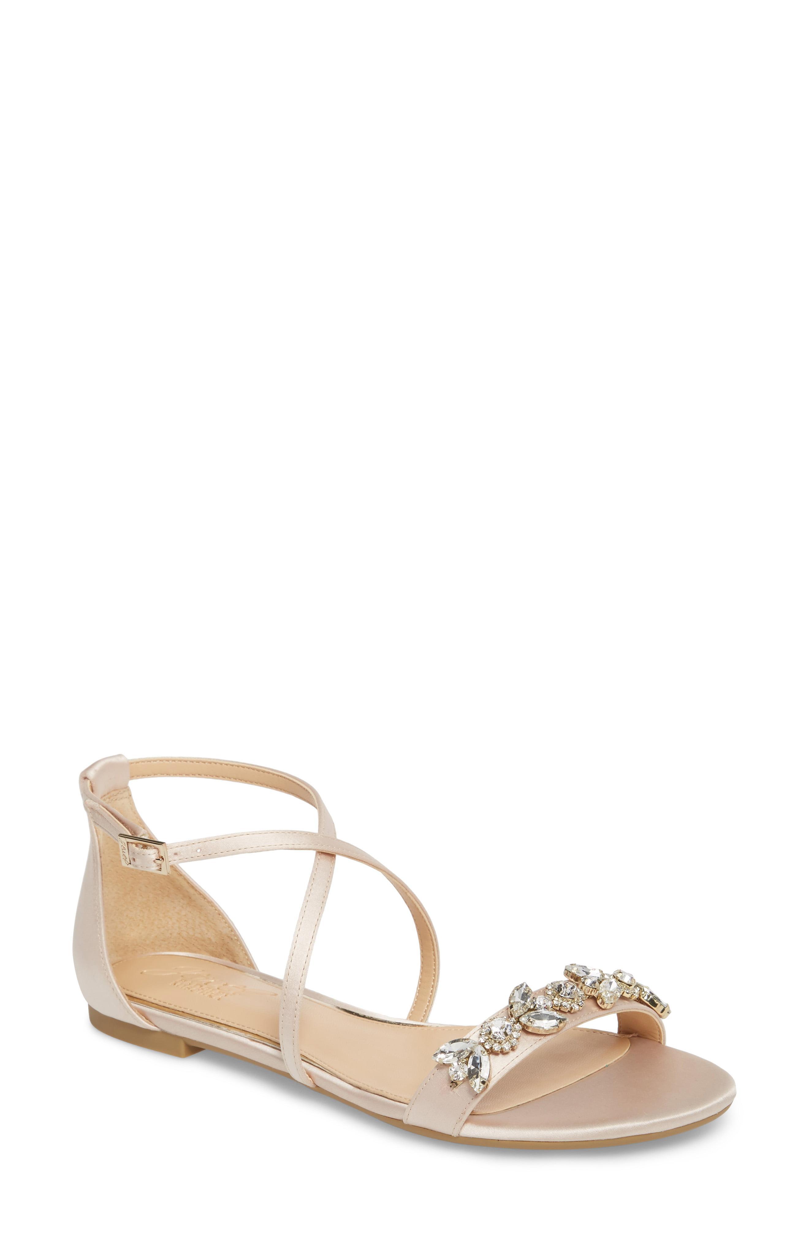 446a518a2 Lyst - Badgley Mischka Tessy Embellished Sandal in Metallic