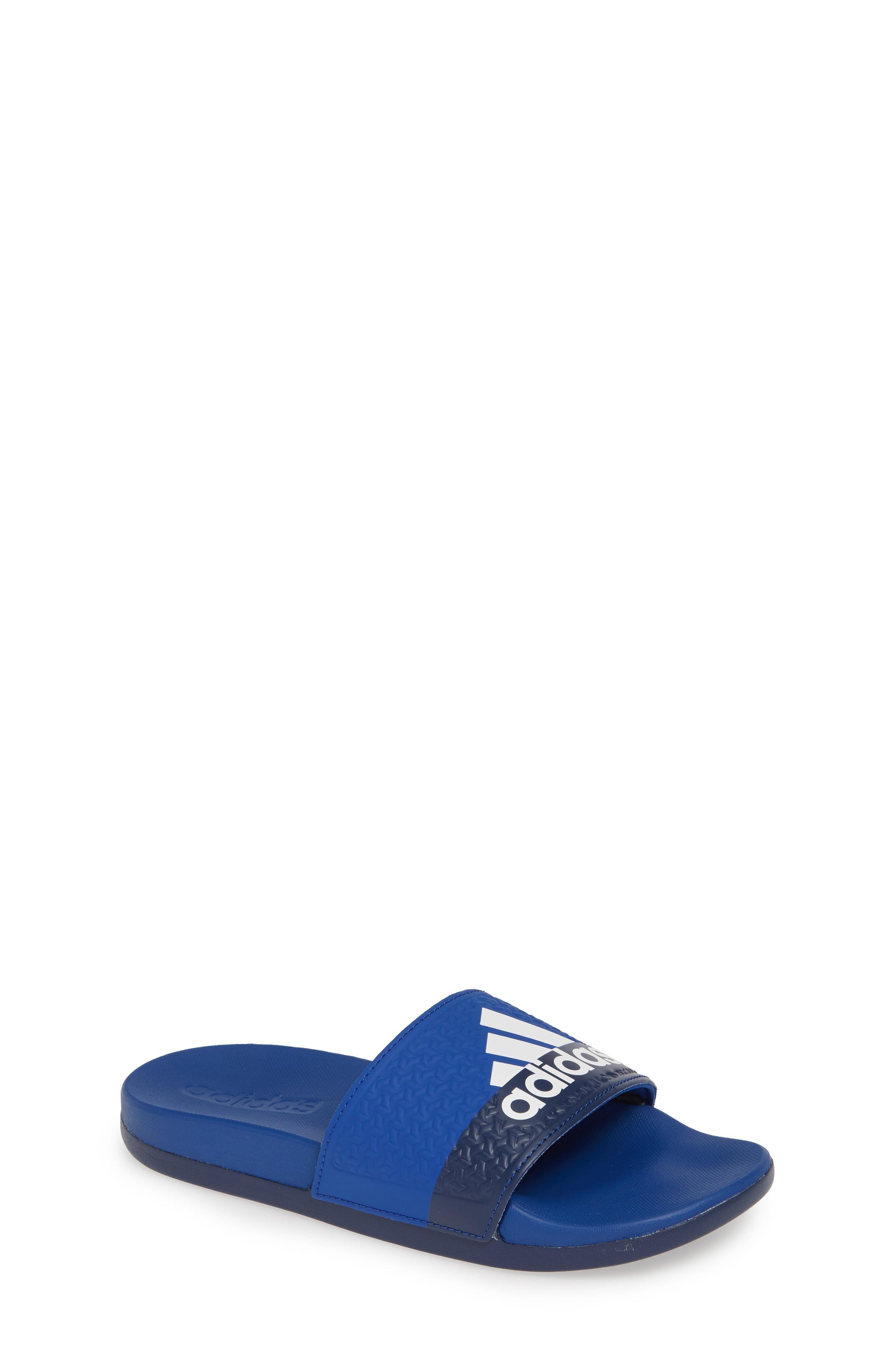 1a171cb6c Lyst - adidas Adilette Slide Sandal in Blue