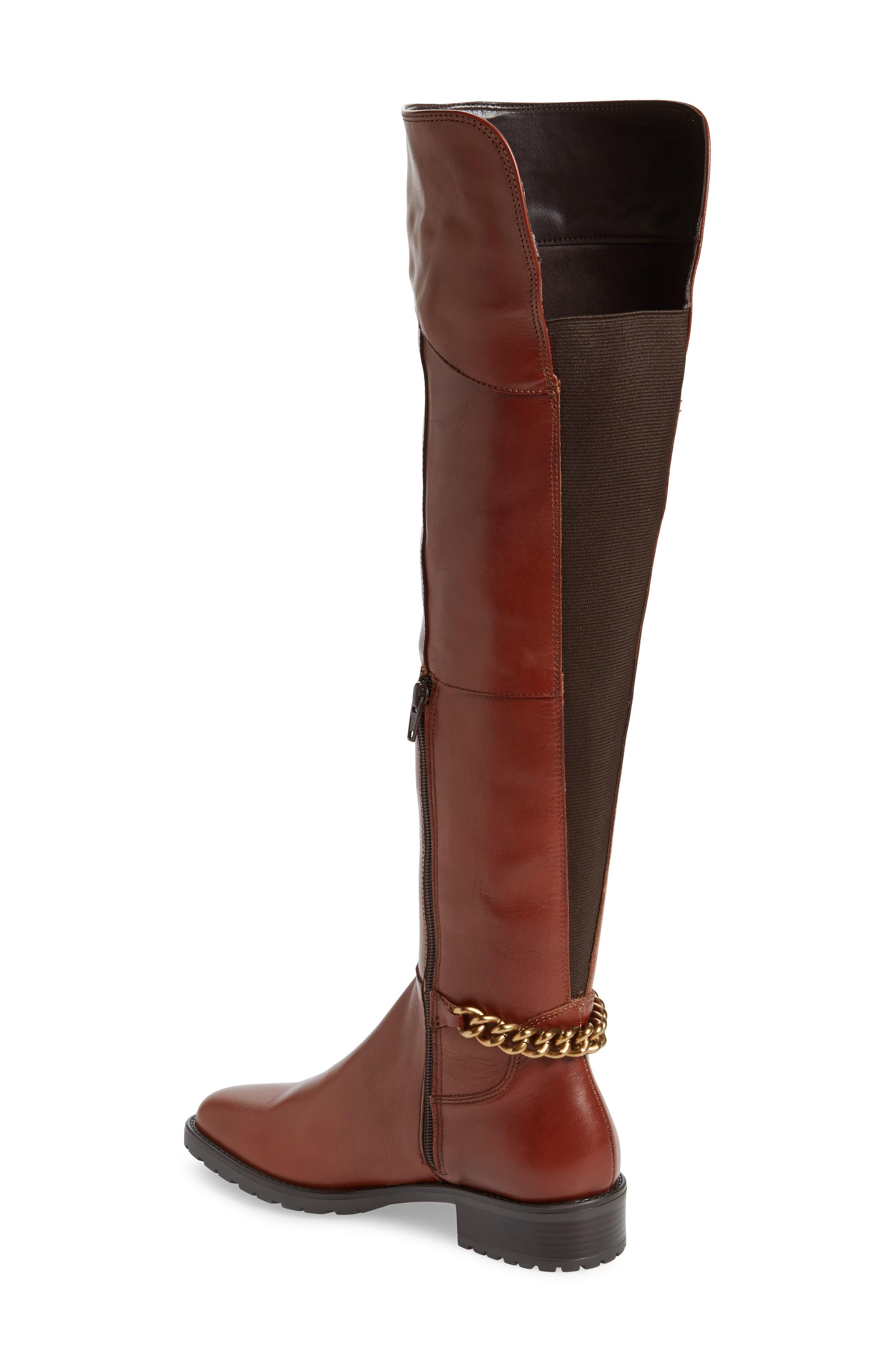 Vito Over The Knee Boot in Tan Leather