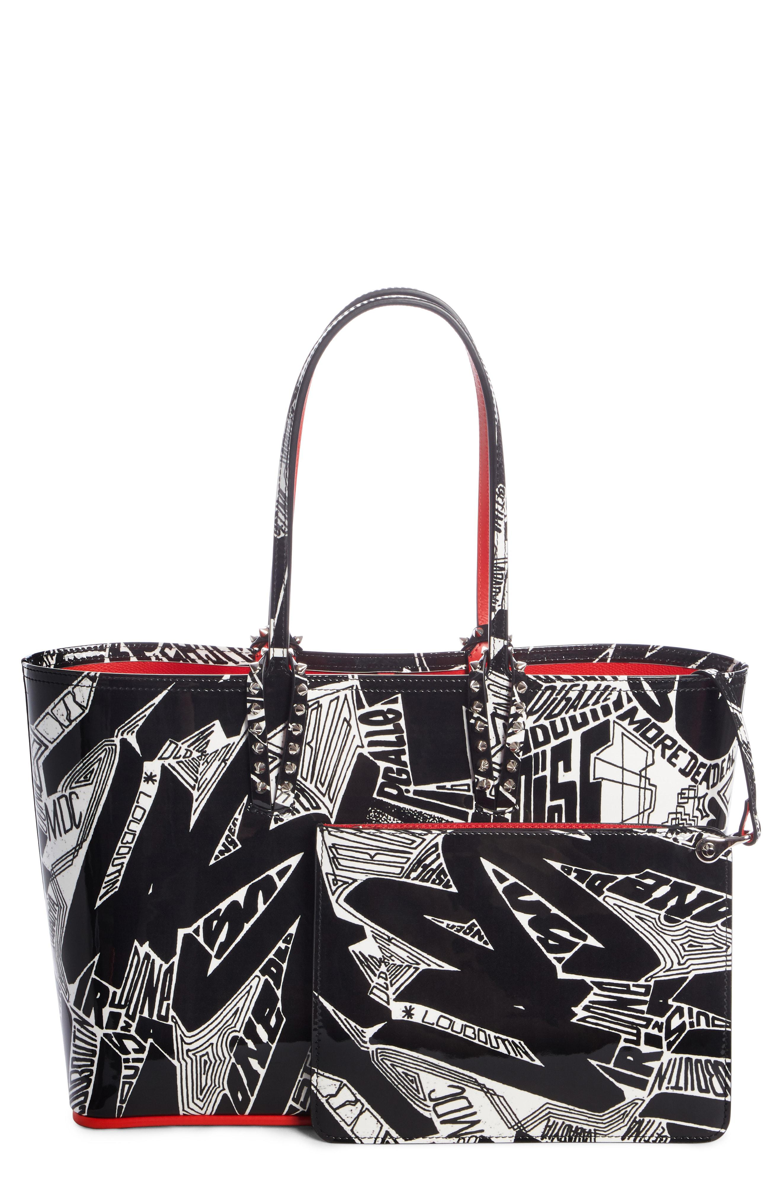 1d42a63df5e Christian Louboutin Black Small Cabata Nicograf Patent Leather Tote
