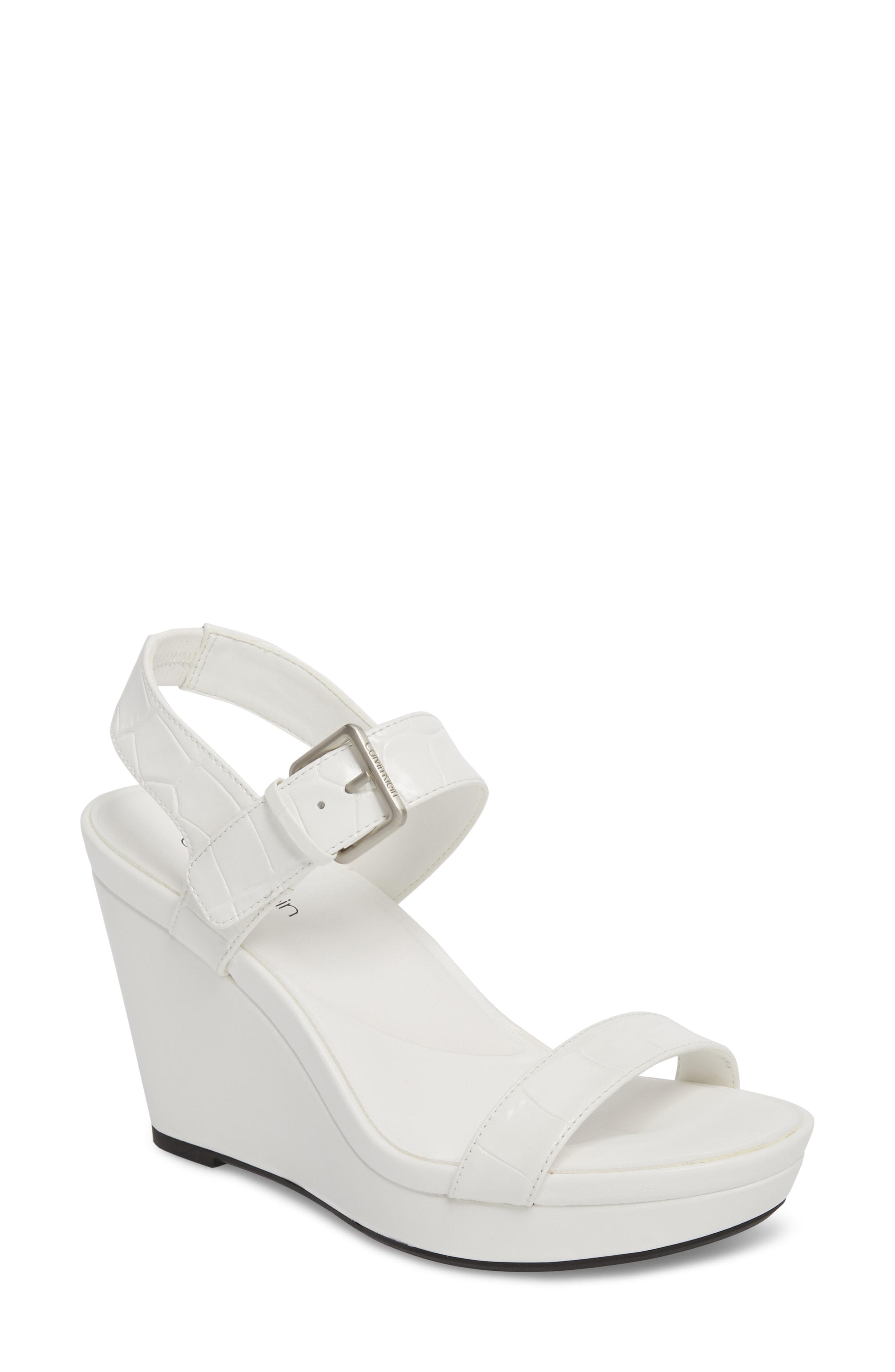 Calvin Klein Leather Jacie Sandal in