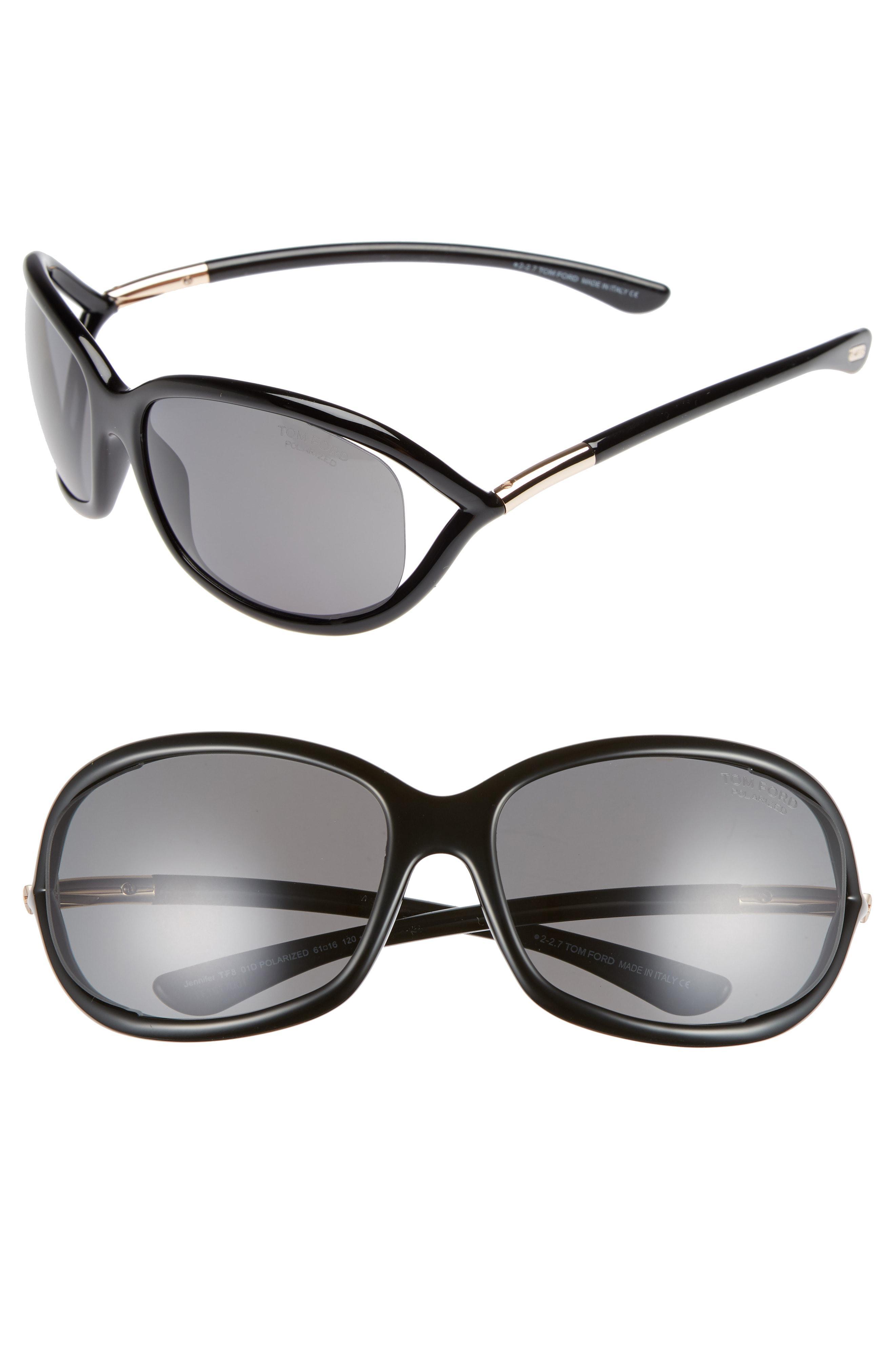 9670e3a388c Tom Ford. Women s Jennifer 61mm Polarized Open Temple Sunglasses -