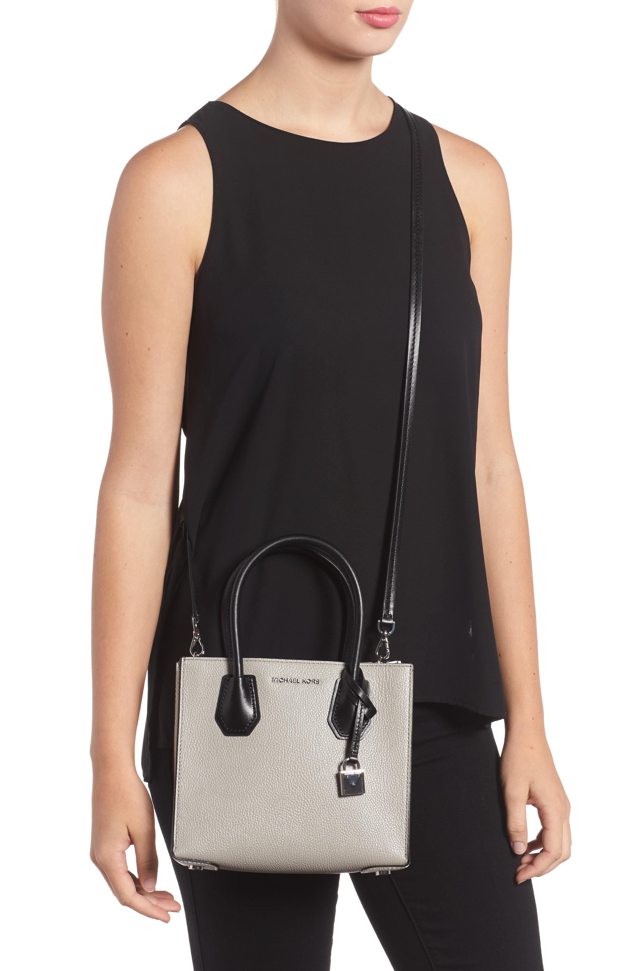 96ca68ddd0a6 MICHAEL Michael Kors - Black Medium Mercer Leather Tote - Lyst. View  fullscreen