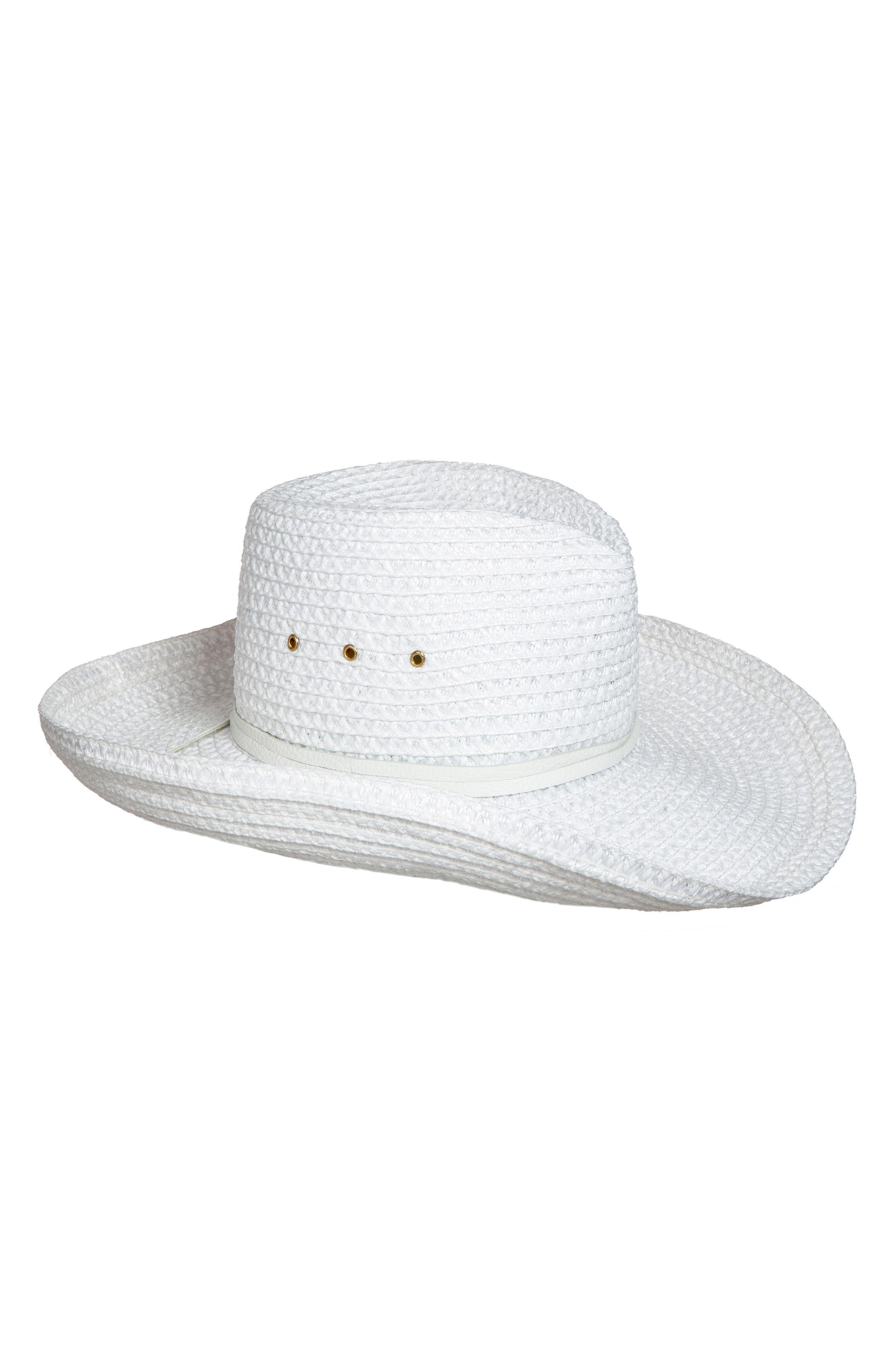 b204fa17fc2 Lyst - Eric Javits Squishee Western Hat in White