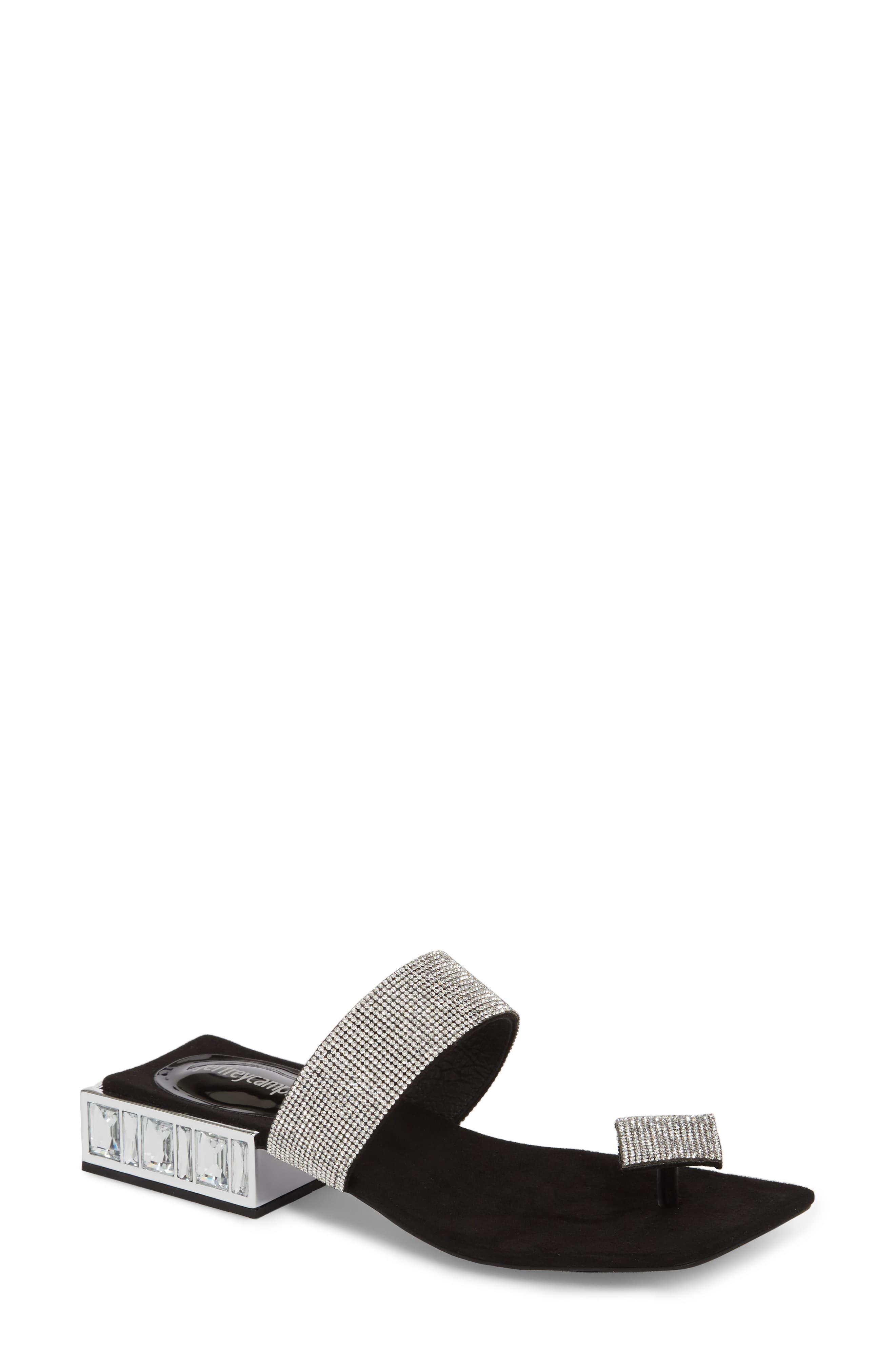 42720634eaf63 Jeffrey Campbell Alise Embellished Sandal in Metallic - Lyst