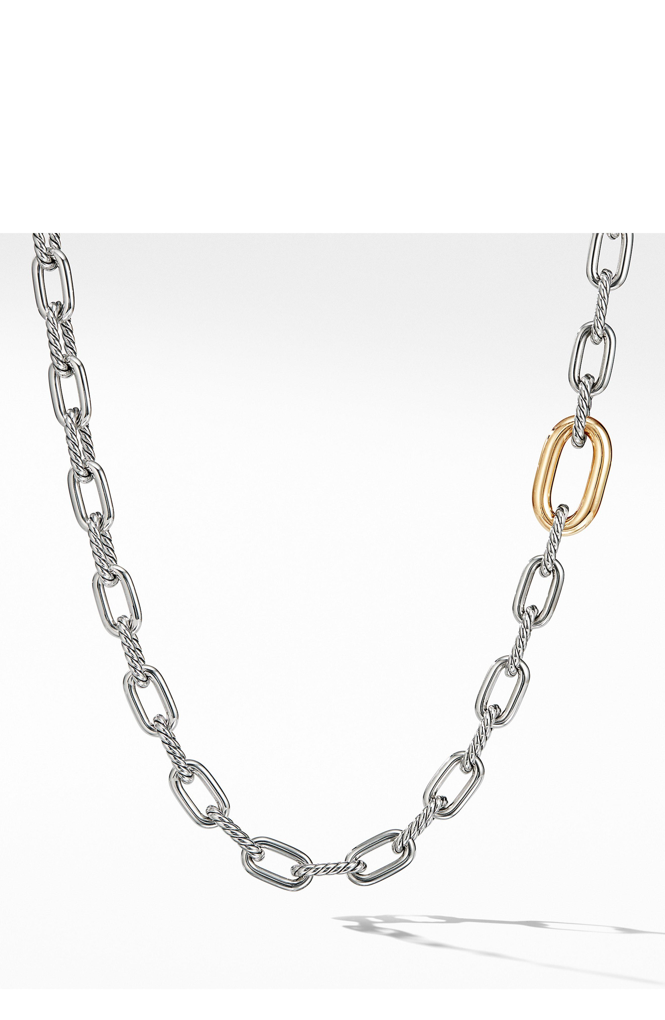 448cba34c Lyst - David Yurman Dy Madison Convertible Chain Link Necklace With ...
