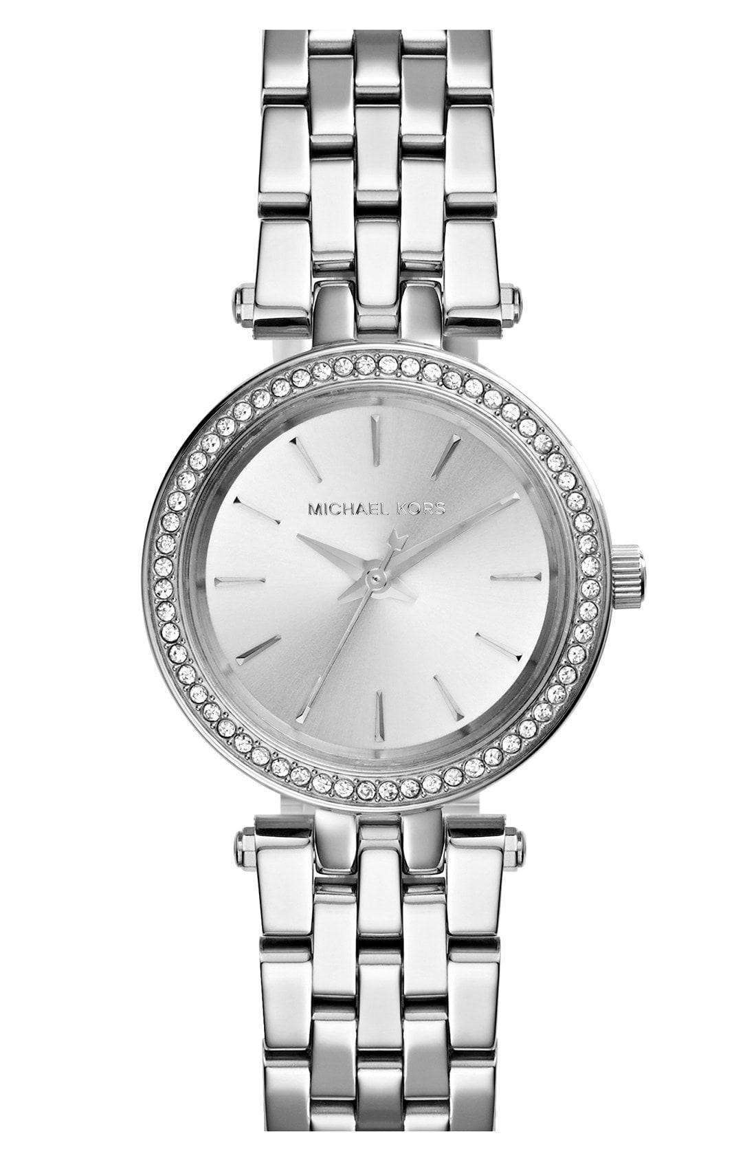 42f1b8ab902c Michael Kors - Metallic  Darci  Crystal Bezel Bracelet Watch - Lyst. View  fullscreen