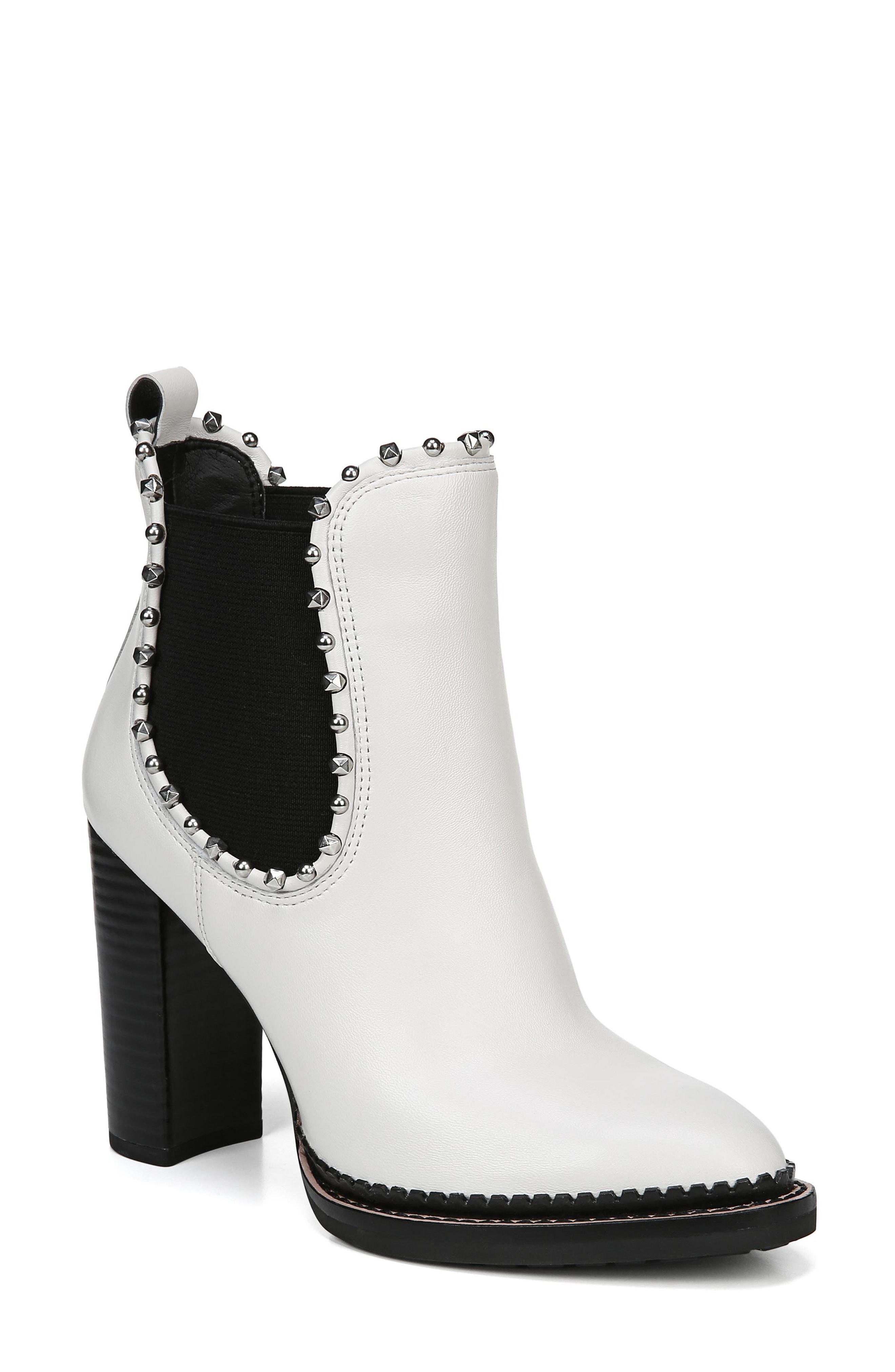 6a0f7b44e3b Sam Edelman Salma Studded Chelsea Boot in White - Save ...