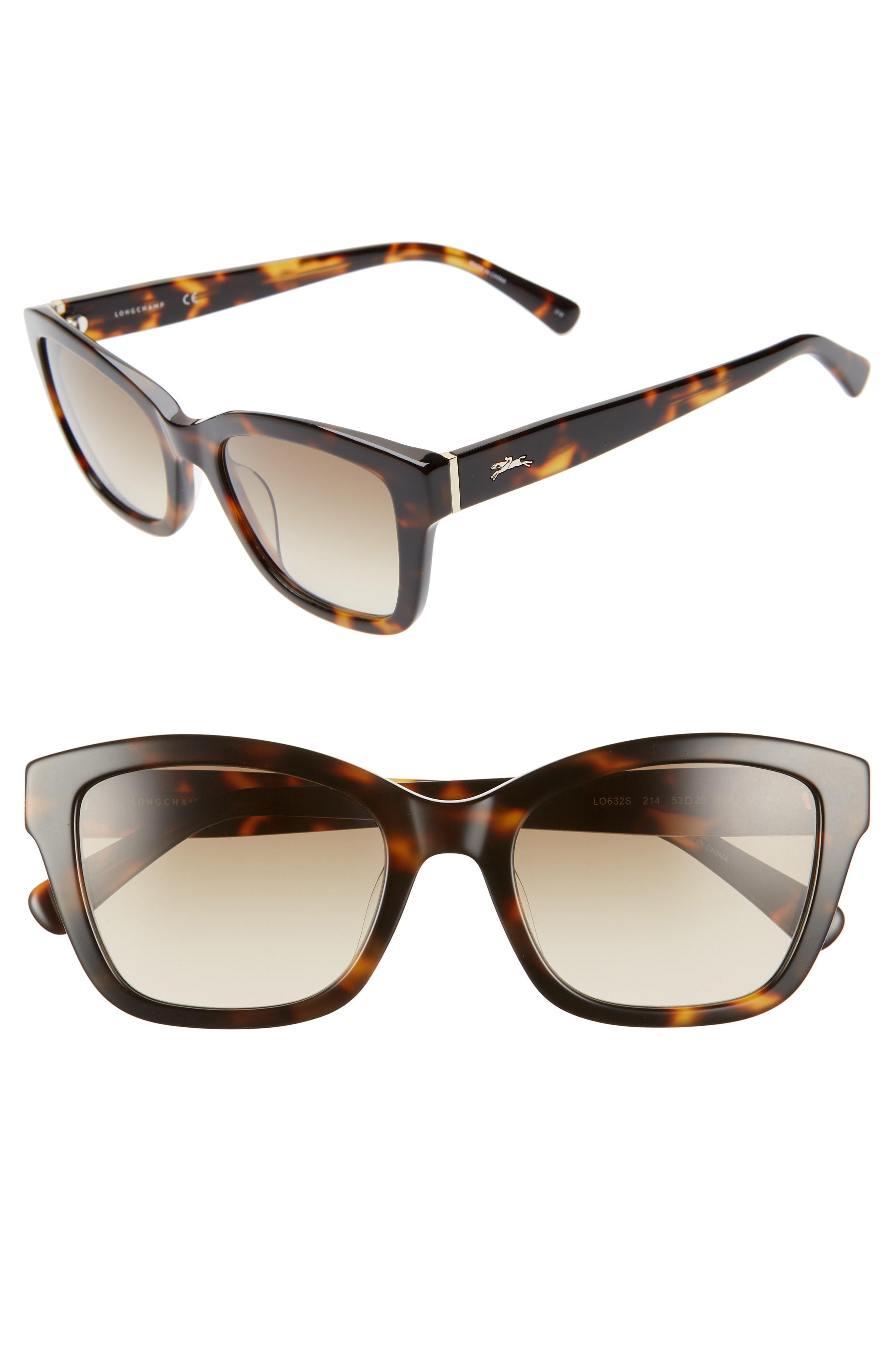 cf7f615e8ecf Lyst - Longchamp Heritage 53mm Square Sunglasses - Havana in Brown ...