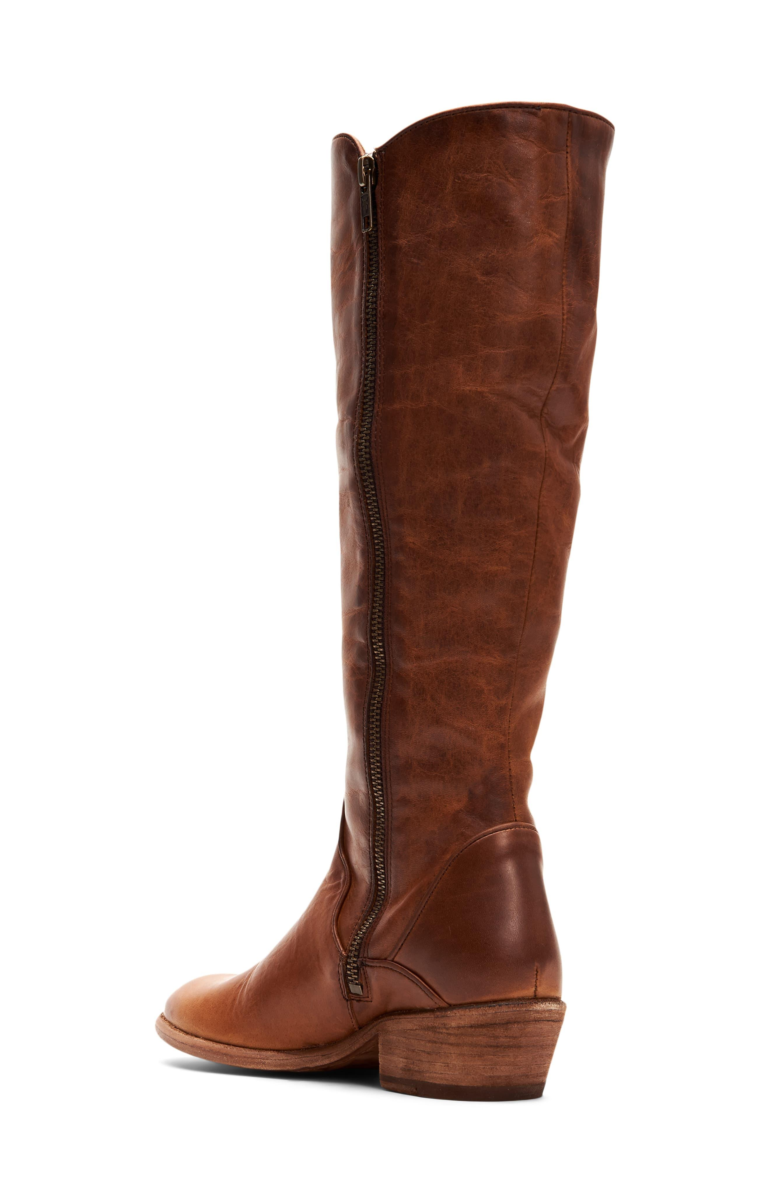 Frye Leather Carson Knee High Boot In Caramel Leather