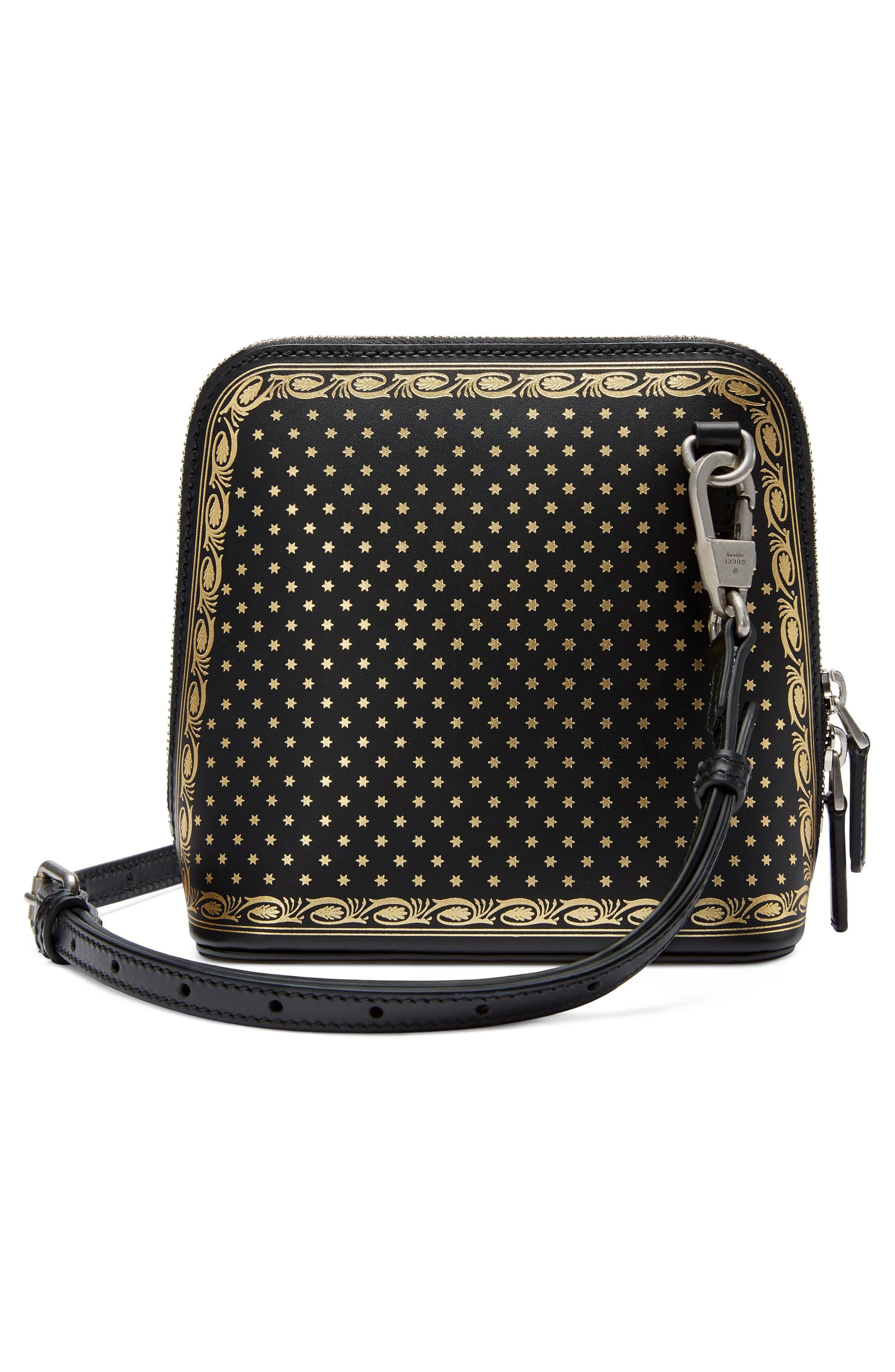 68a9b086afbc47 Gucci Guccy Logo Moon & Stars Leather Crossbody Bag - in Black ...