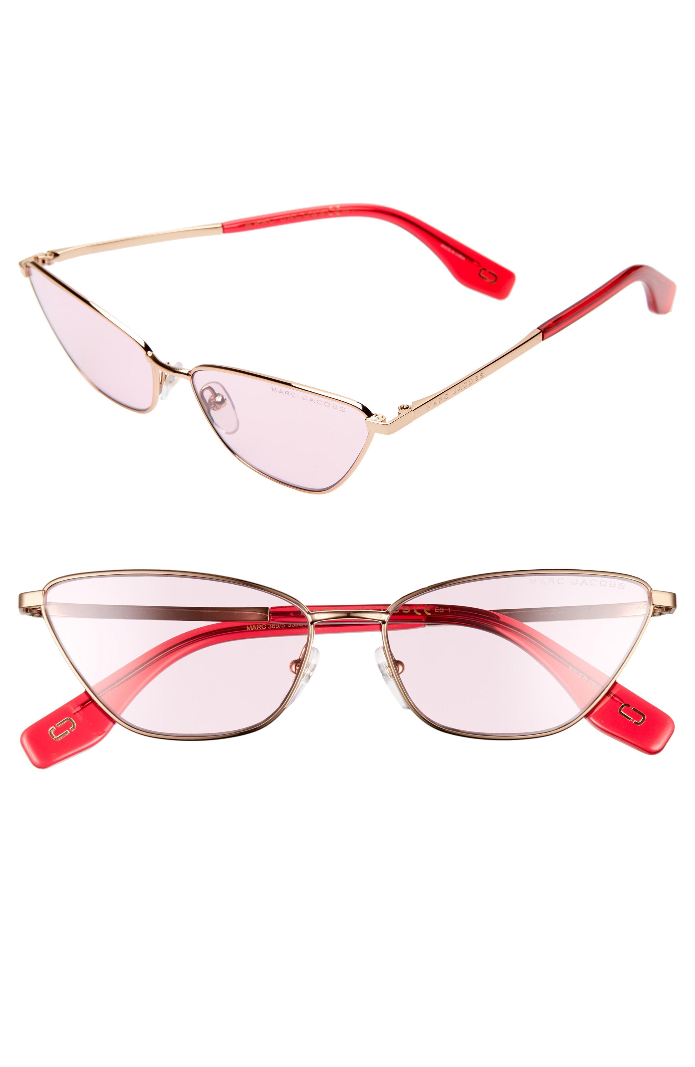 4e4ee32c0657 Marc Jacobs - Pink 57mm Cat Eye Sunglasses - - Lyst. View fullscreen