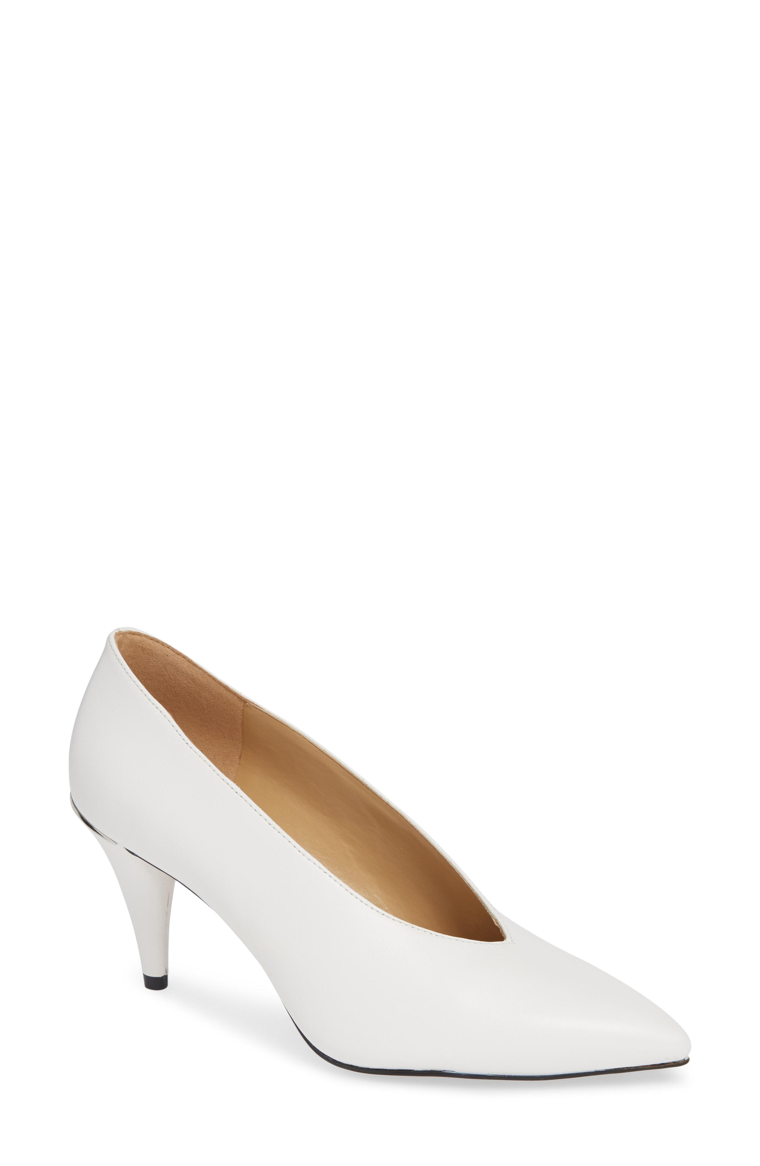 ef4cd71add81 Lyst - MICHAEL Michael Kors Lizzy Pointed Toe Pump in White