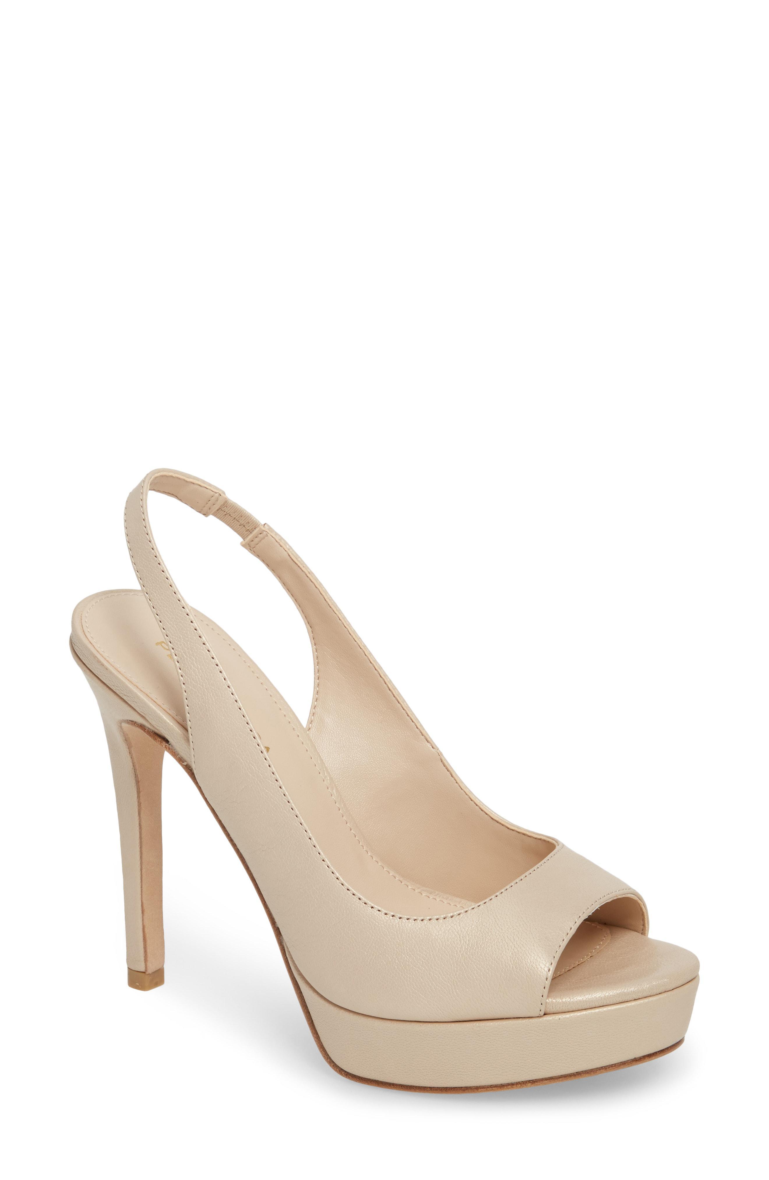 e99e0c3717f Lyst - Pelle Moda Oana Slingback Platform Sandal in White
