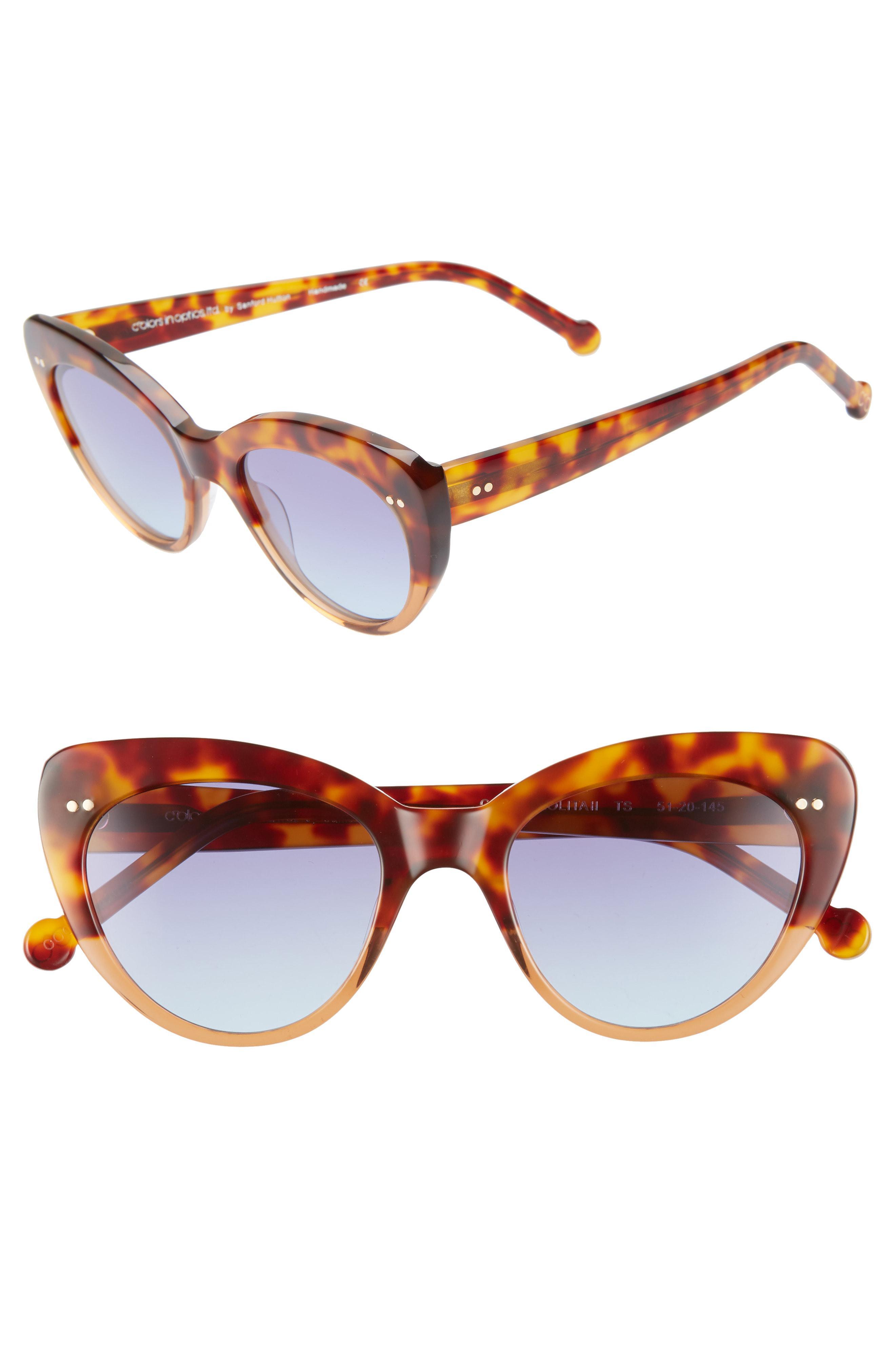 d35d01a5558 Colors In Optics. Women s Brown Lolita 51mm Gradient Lens Cat Eye Sunglasses  -