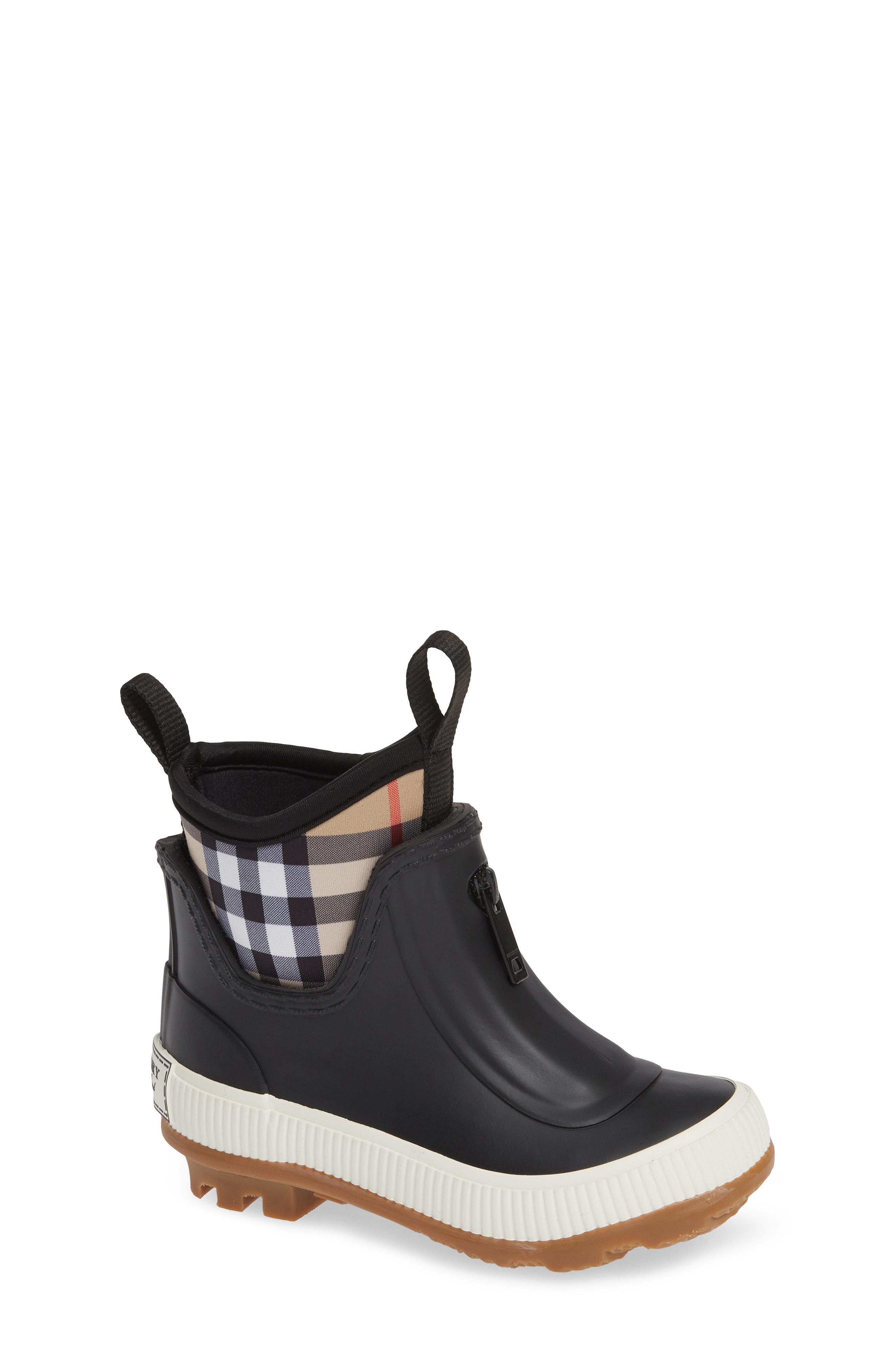 9c03a9231374 Lyst - Burberry Flinton Waterproof Rain Boot