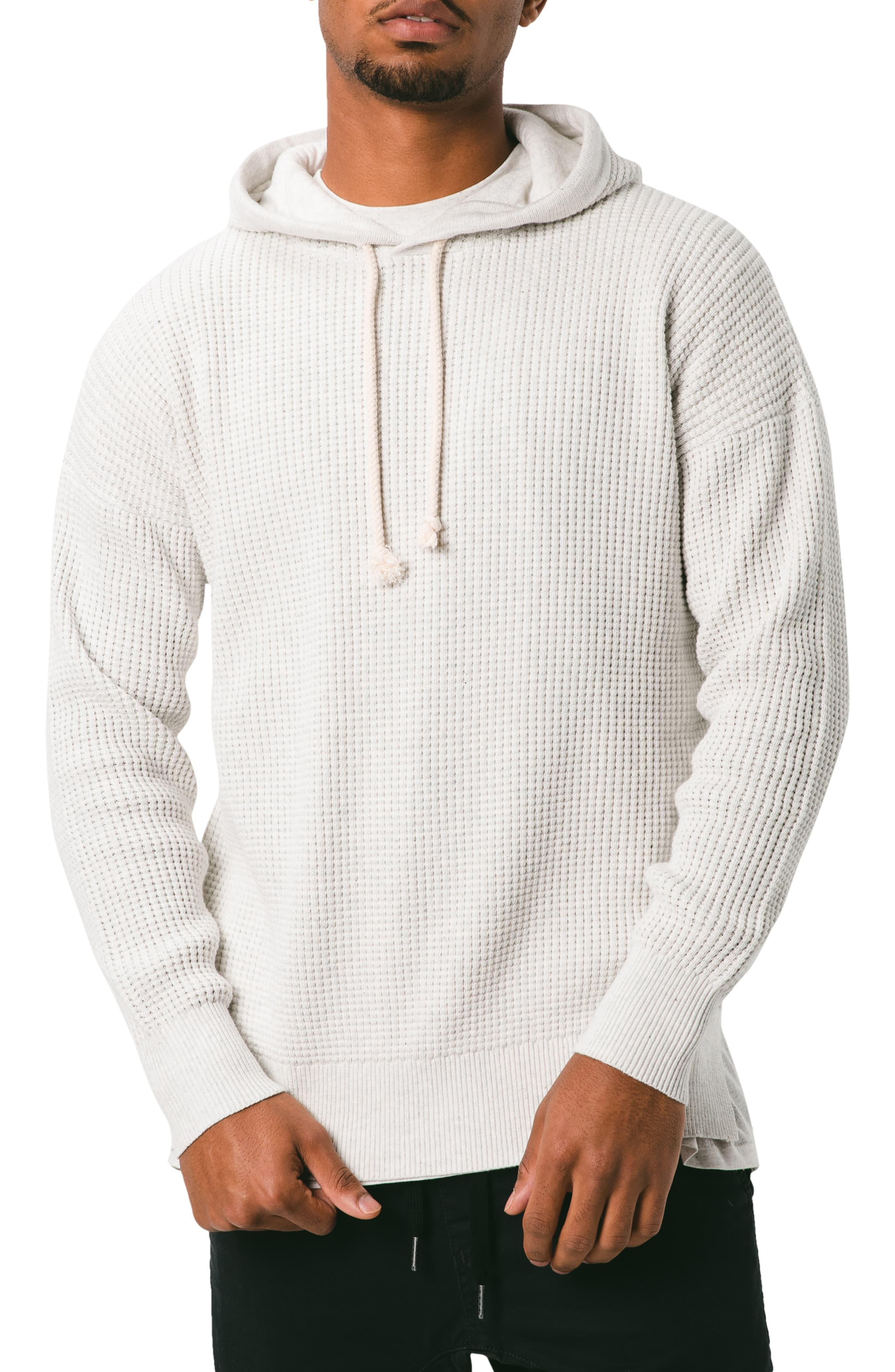 Zanerobe Mens Cotton Waffle Pullover Hood Sweat