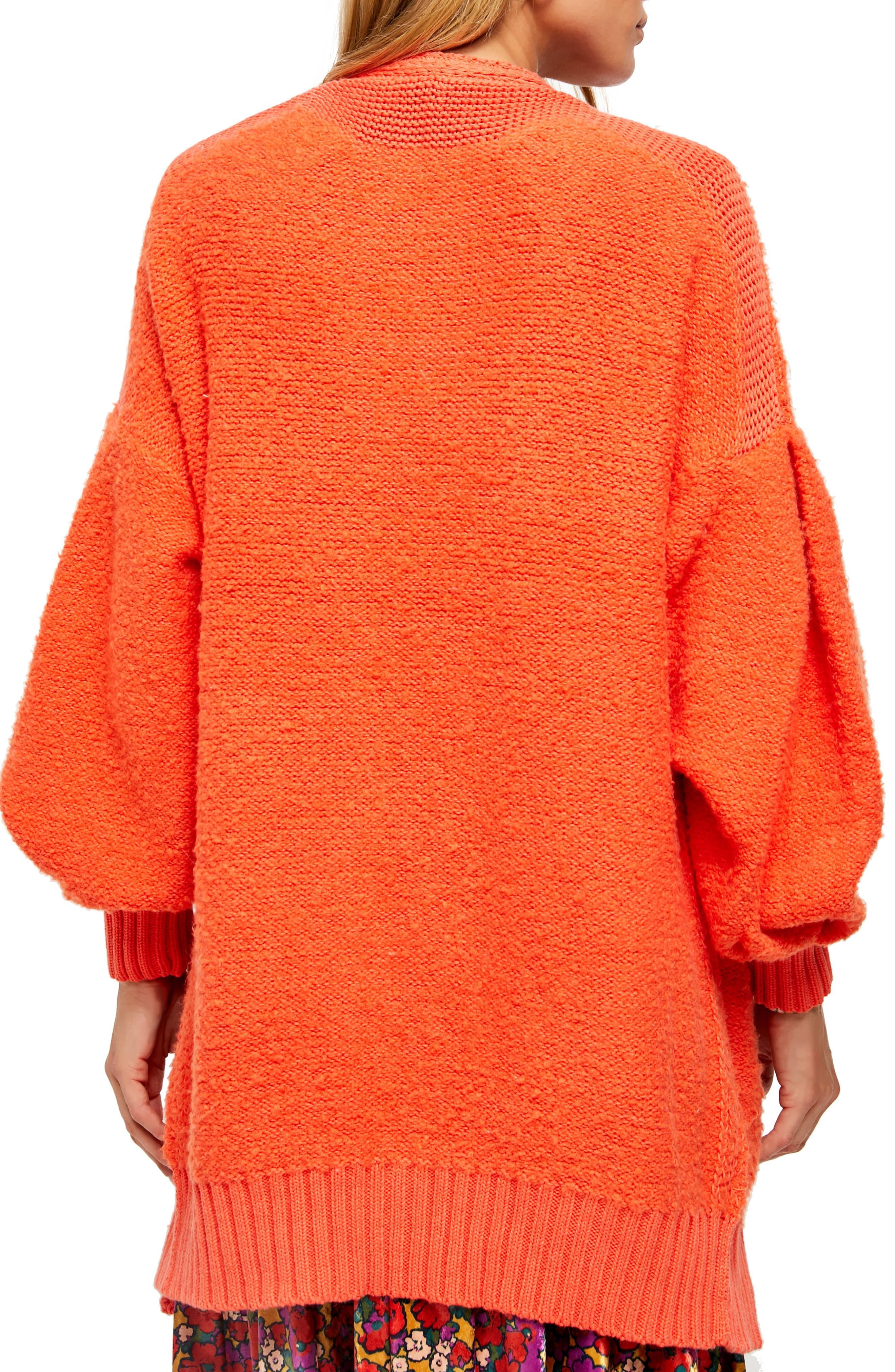 Free People Sweater Black Phantom Long Open Front Cardigan Wool Sz S NEW NWT