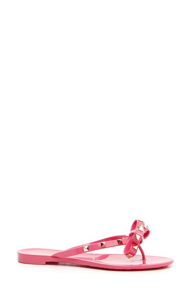 Valentino Rockstud Flip Flop In Pink Peony  Lyst-1797