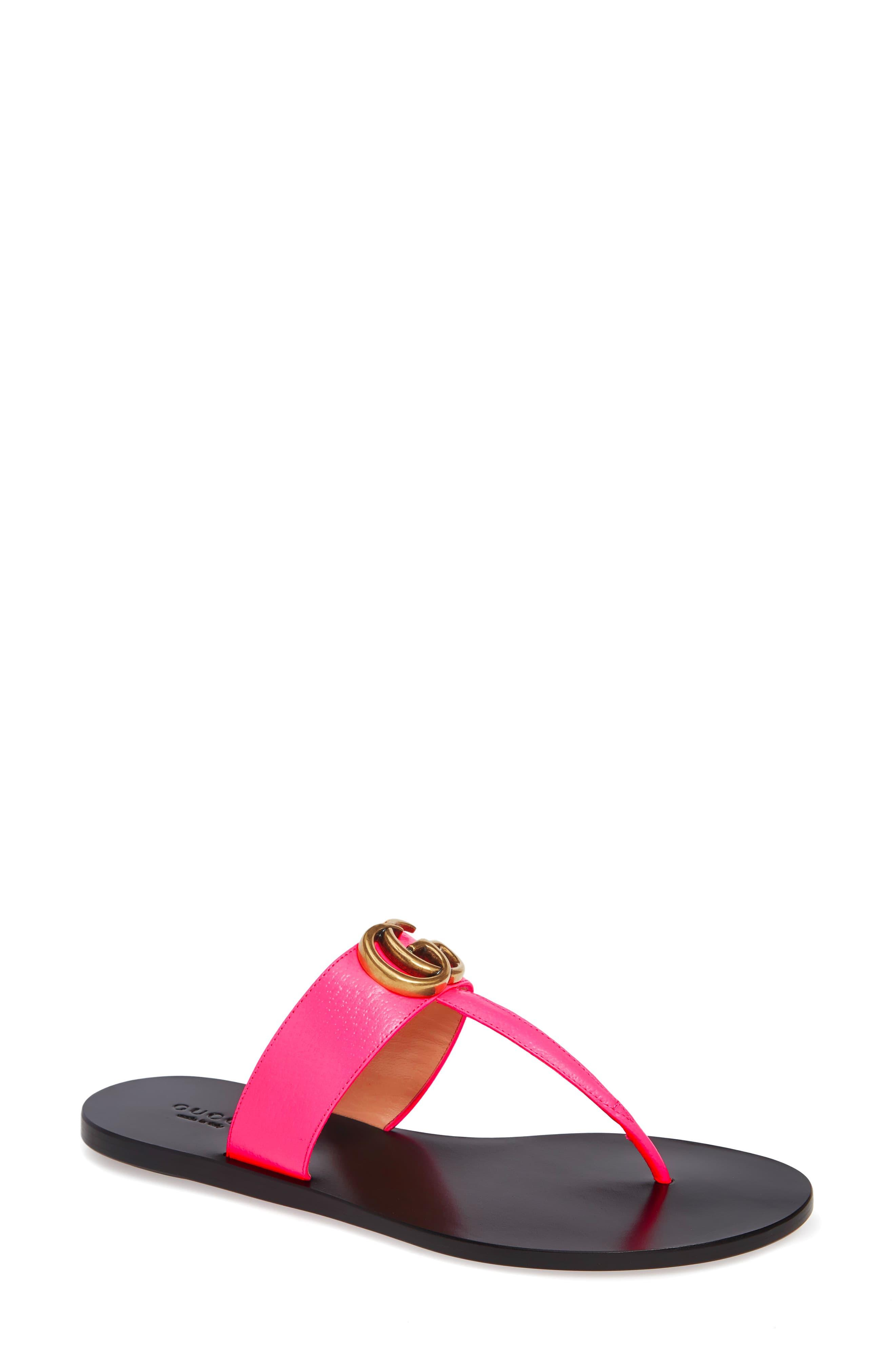 281ef593b ... Gucci Pink Leather Thong Sandal With Double G. Visit Nordstrom. Tap to  visit site