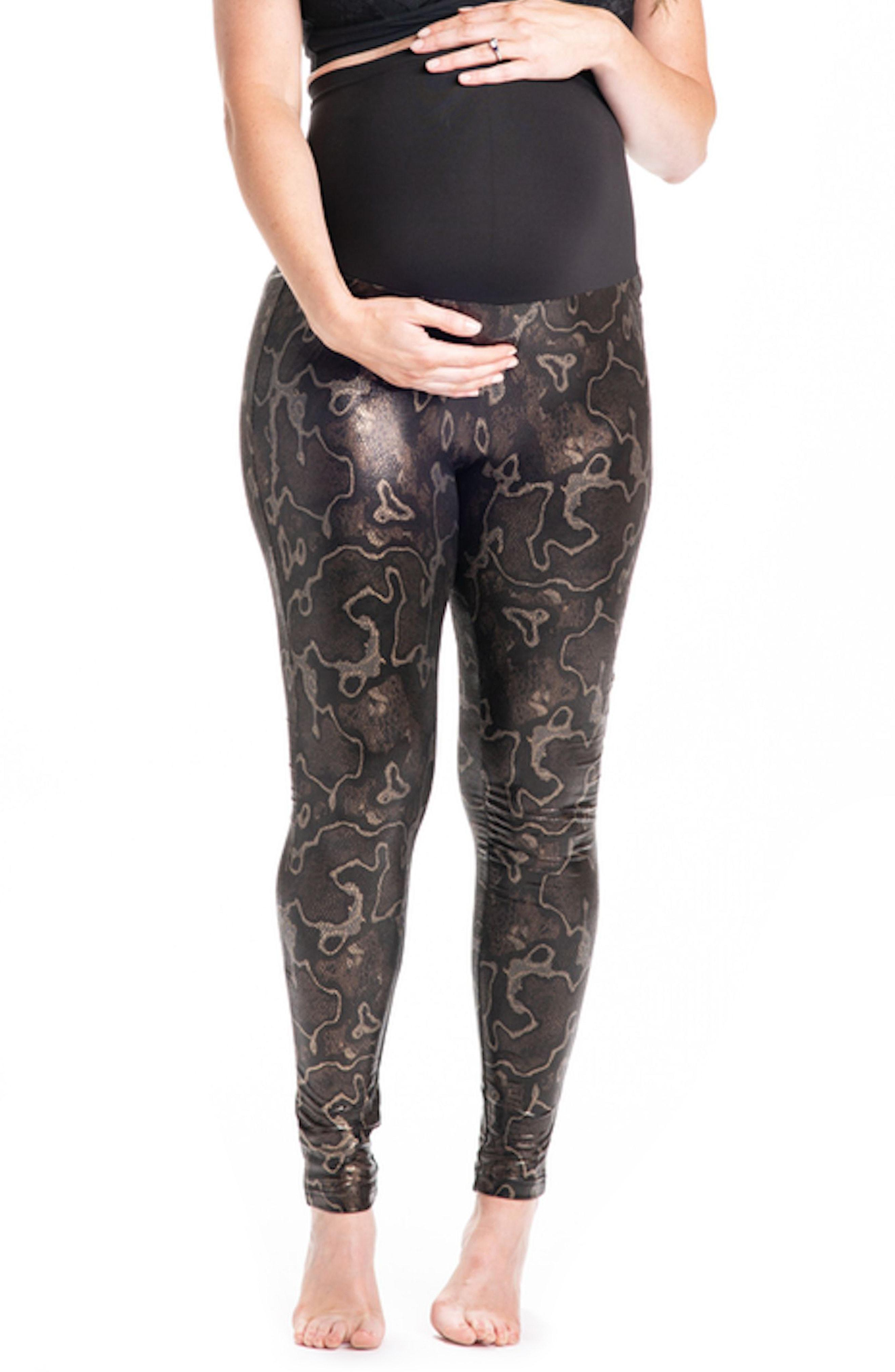 2a5ebec0e312c Lyst - PREGGO LEGGINGS Boa Print Maternity Leggings in Brown