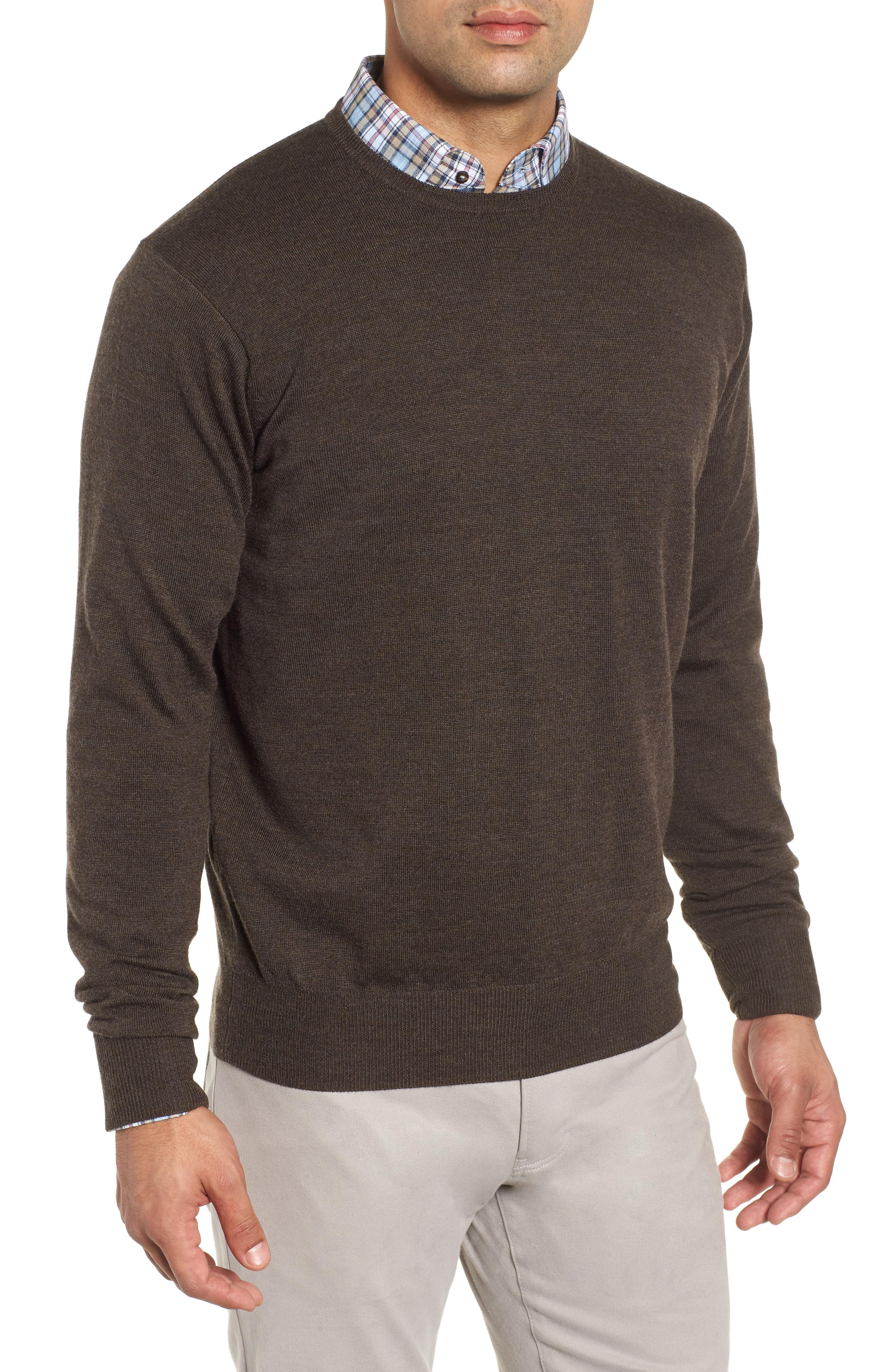 e773aedd1 Lyst - Peter Millar Crown Wool   Silk Sweater in Metallic for Men