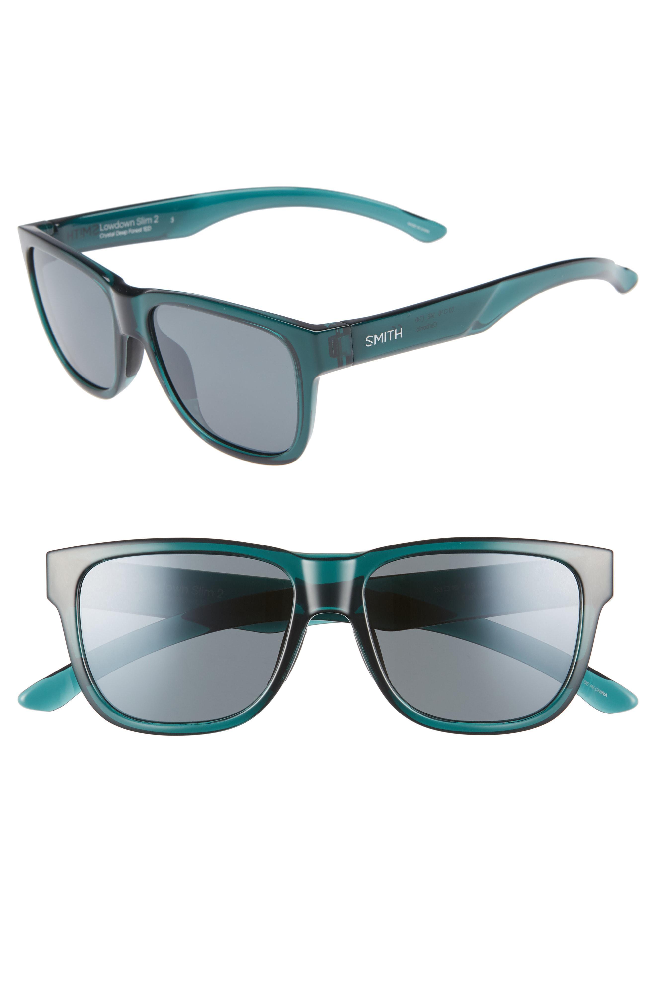 a2682b36fe Smith - Blue Lowdown Slim 2 53mm Chromapop(tm) Polarized Square Sunglasses  - -. View fullscreen