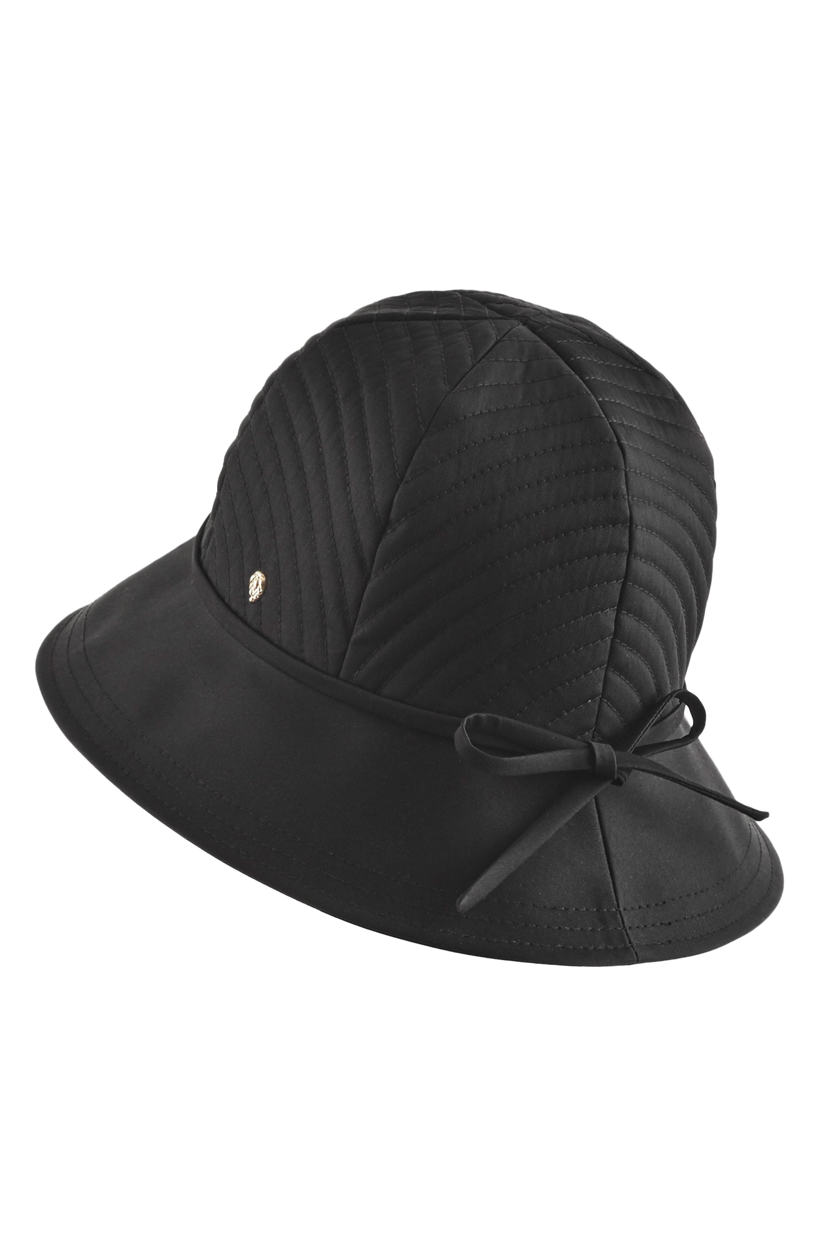 Lyst - Helen Kaminski Water Resistant Cloche Hat - in Black 170524e39ec6