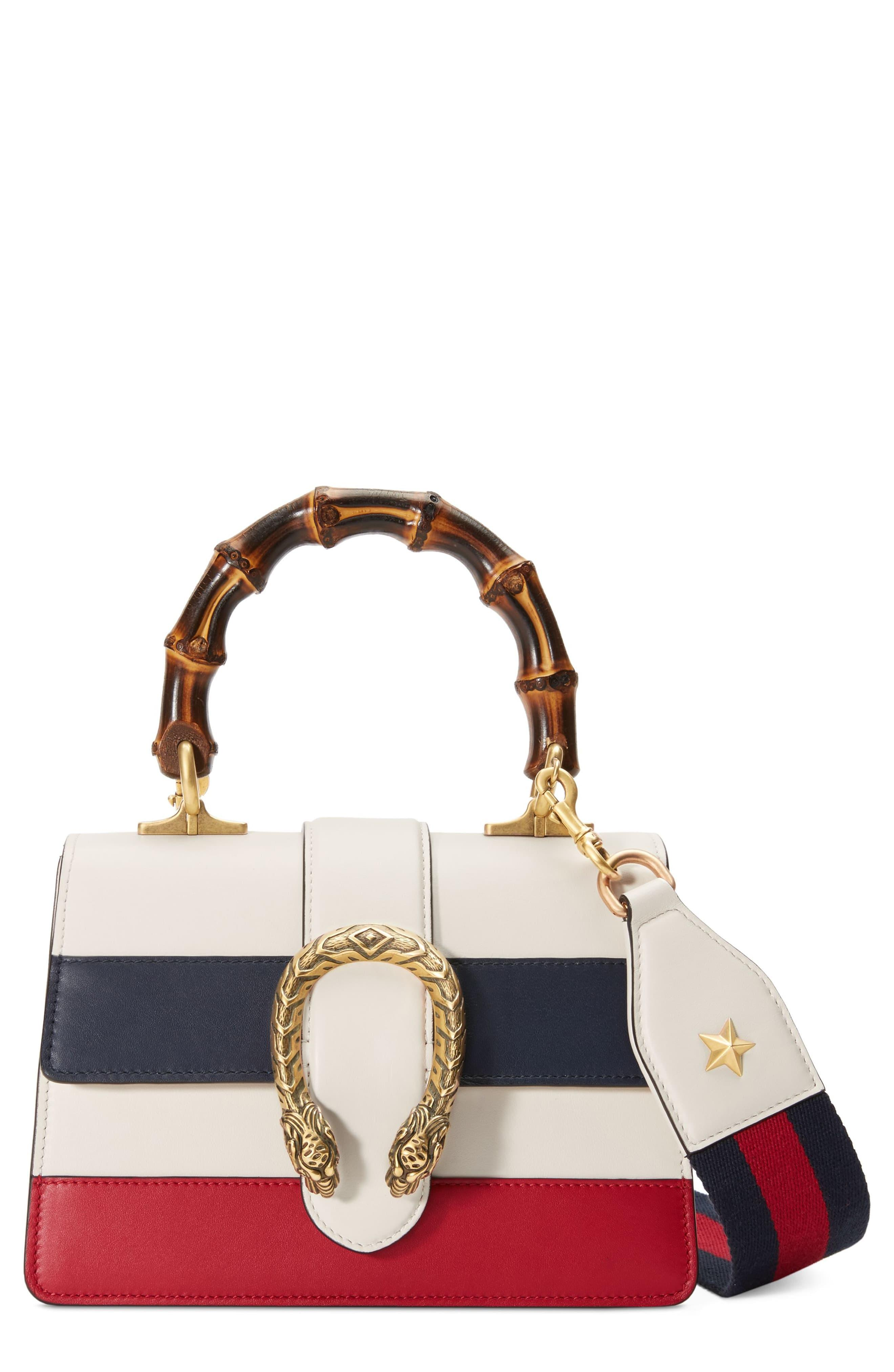 4d47ca454a6b Gucci Dionysus Leather Top Handle Bag in White - Save 24% - Lyst