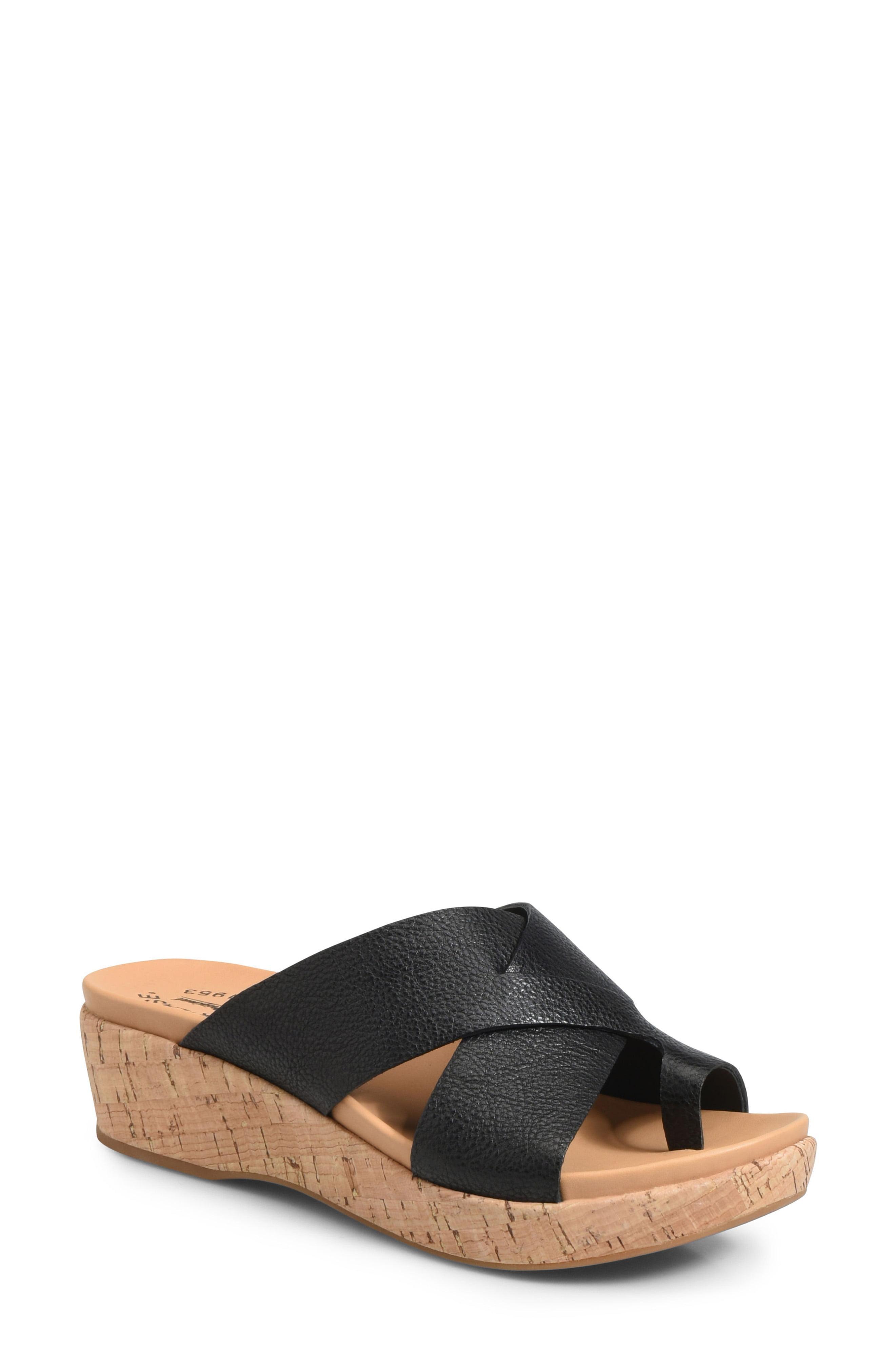 96027aa930ad Lyst - Kork-Ease Kork-ease Baja Wedge Slide Sandal in Black - Save 29%