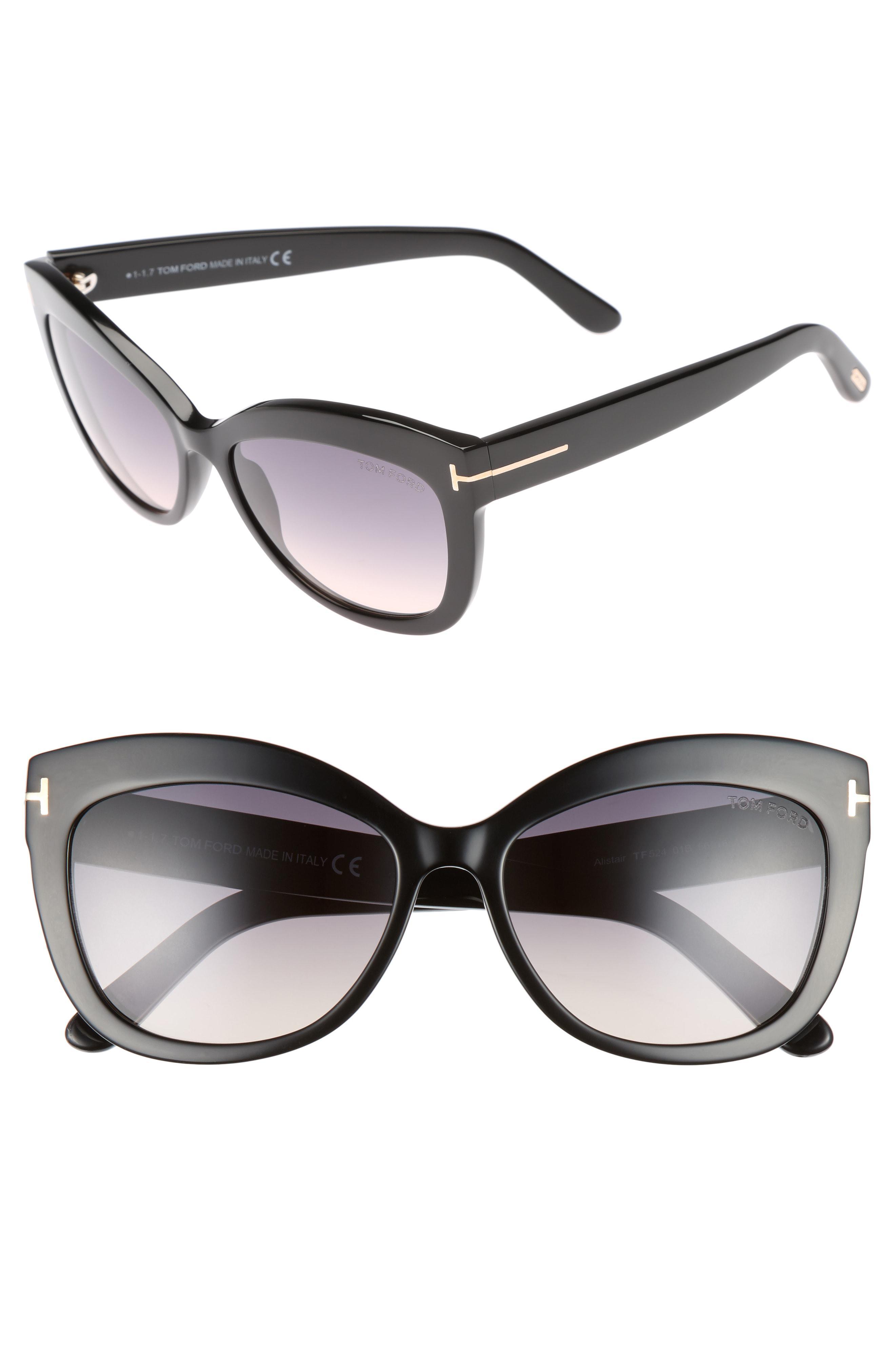 d8c59de2ffd0 Tom Ford. Women s Alistair 56mm Gradient Sunglasses - Shiny Black   Gradient  Smoke