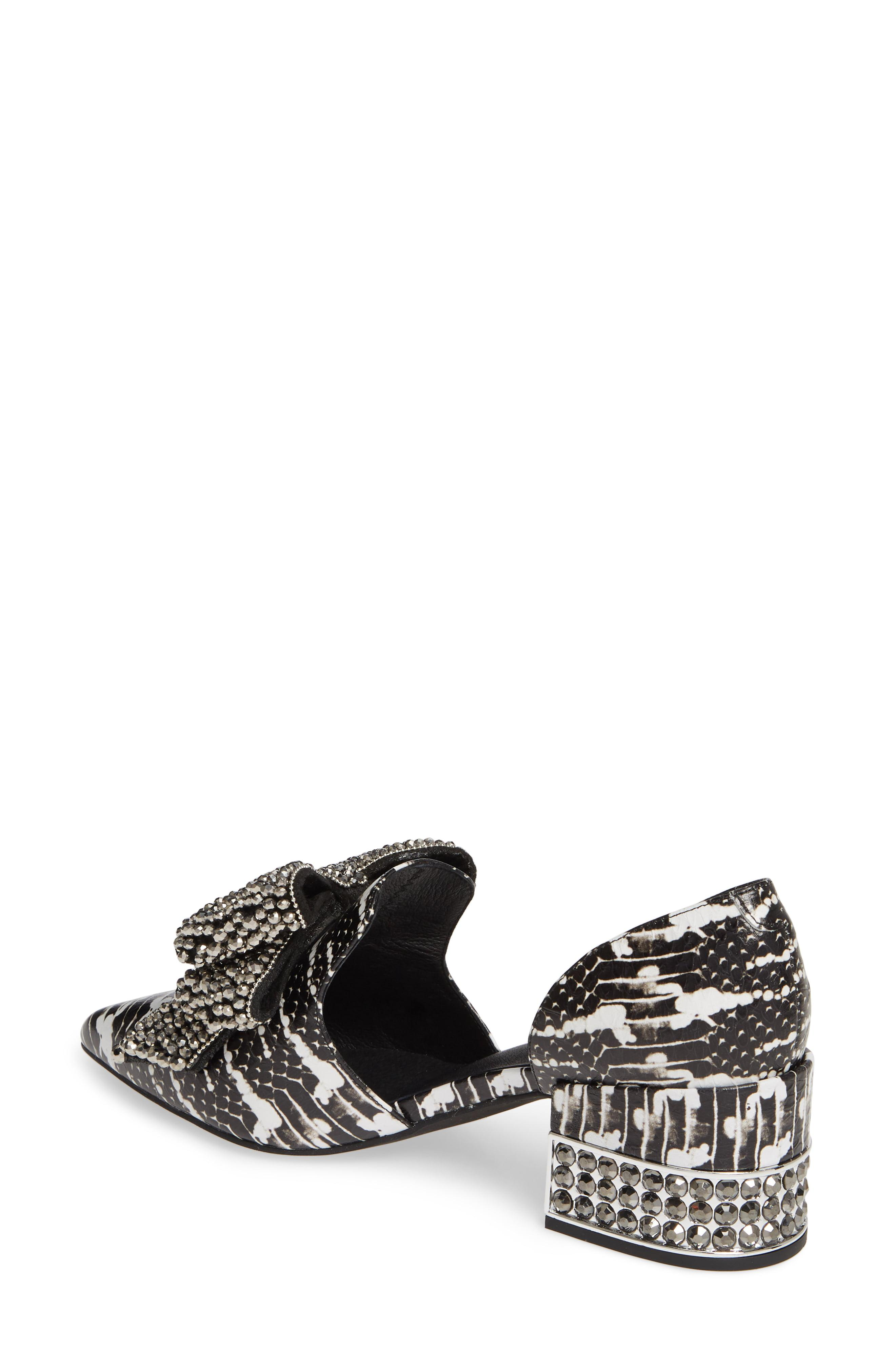 c3a1cff366a Jeffrey Campbell - Black Valenti Embellished Bow Loafer - Lyst. View  fullscreen