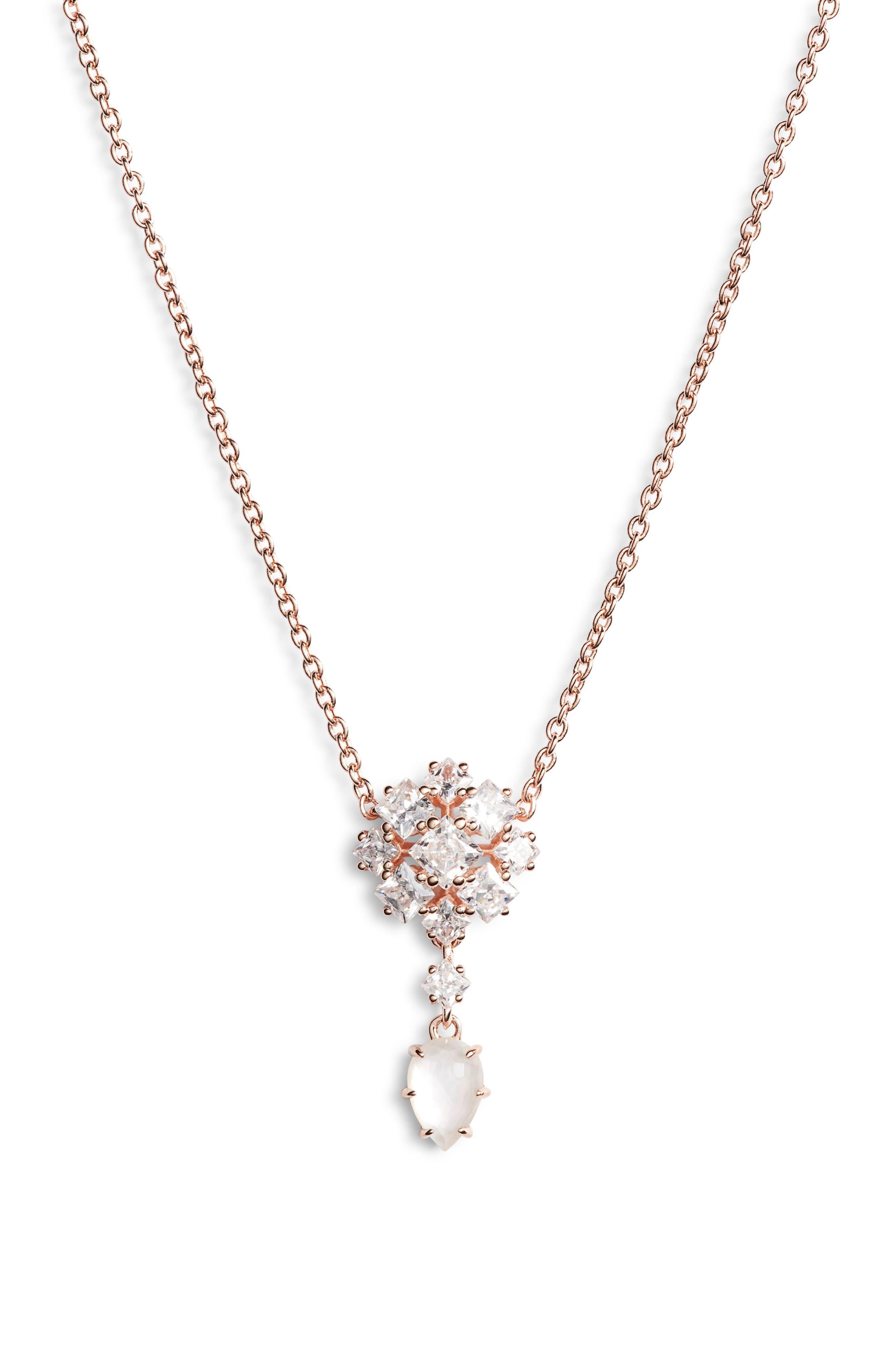 1d4b55e93 Nadri Tulle Doublet & Cubic Zirconia Necklace in Metallic - Lyst