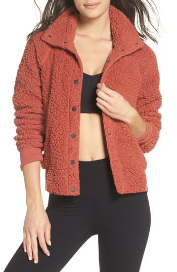 fa83f4b8f27b Lyst - Zella Cozy Up Bomber Jacket