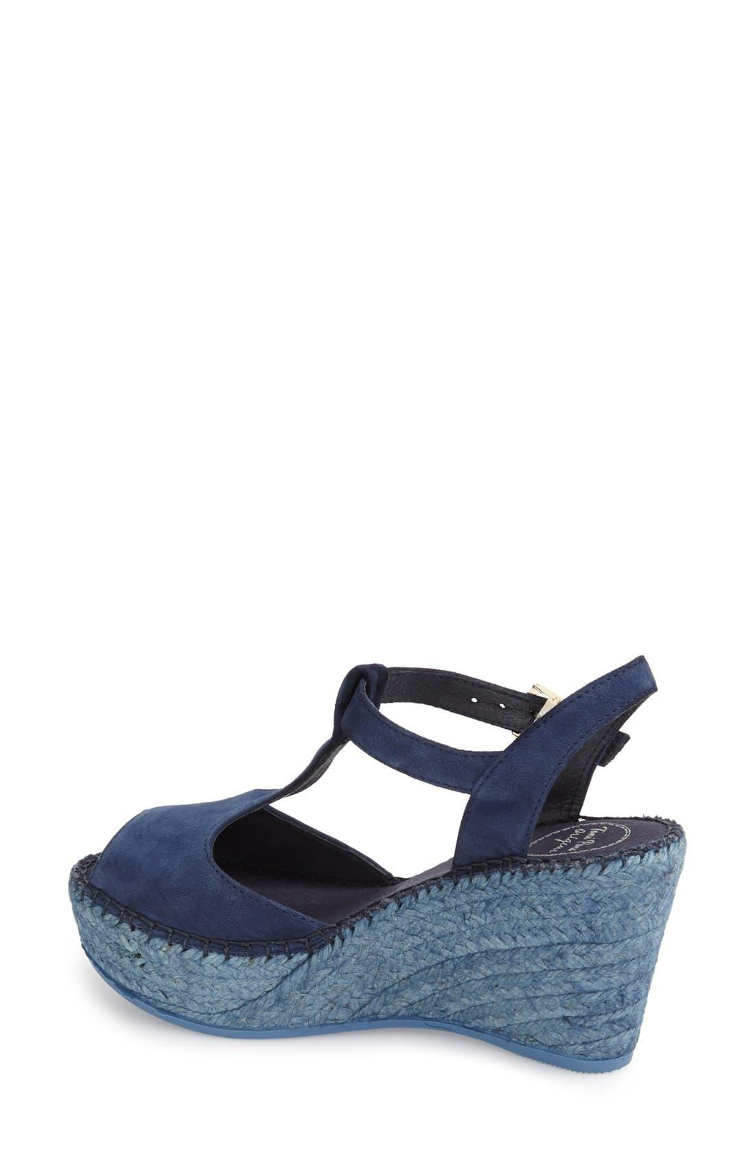ccfed221cf4 Women's Blue Lidia T-strap Espadrille Wedge