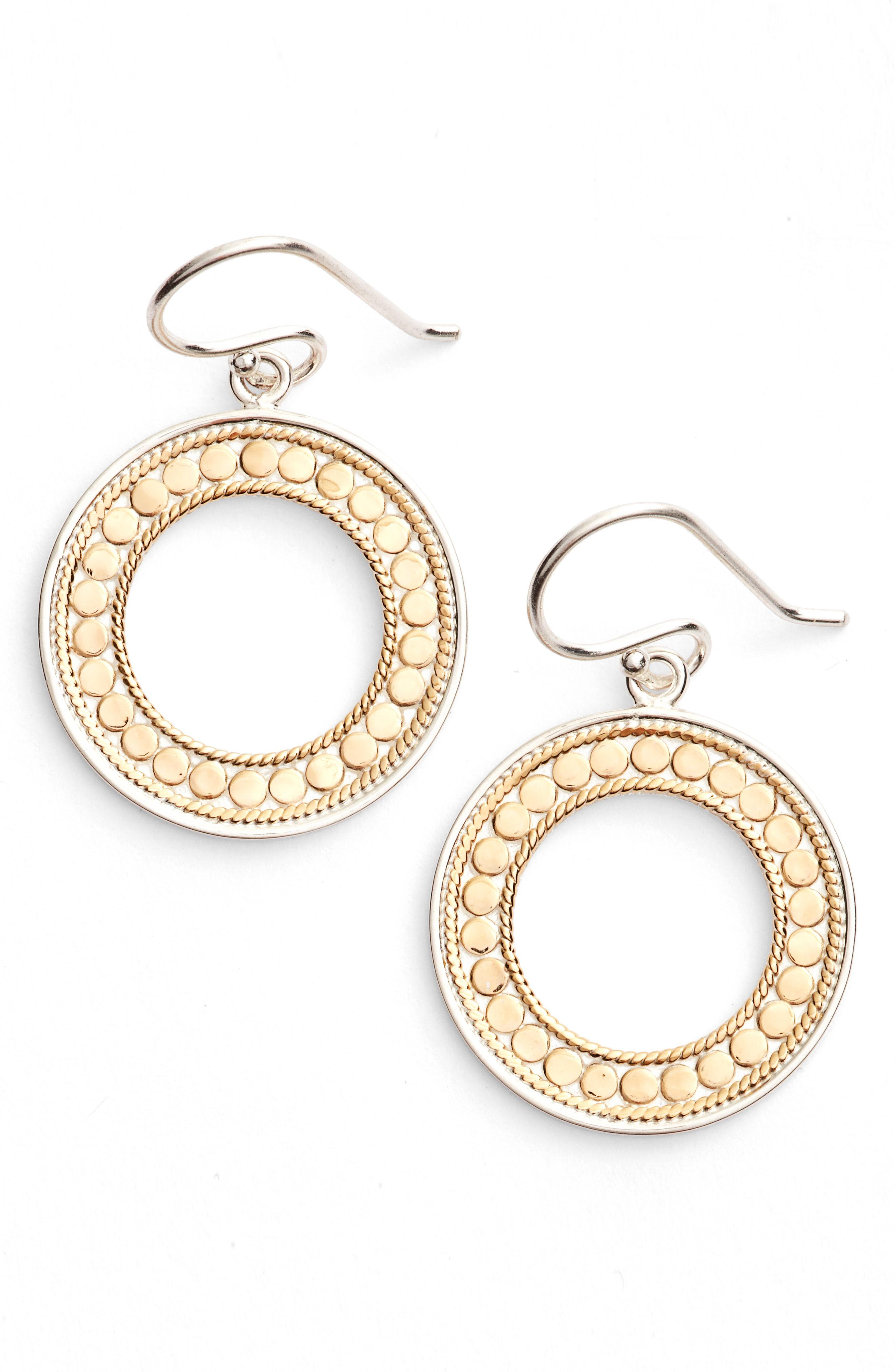 aaf25b377 Lyst - Anna Beck Open Circle Drop Earrings in Metallic
