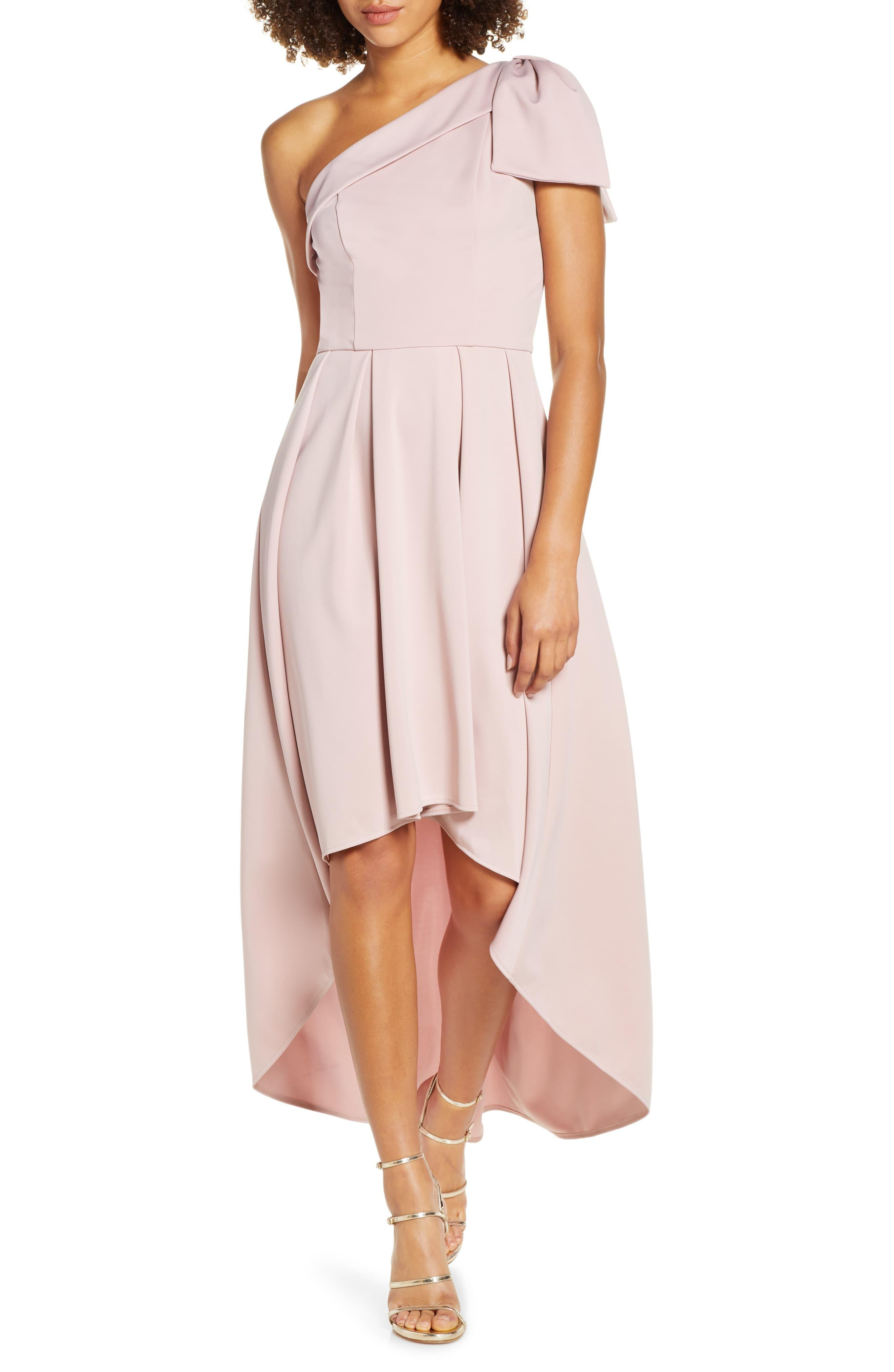 99e3e76c3d2 Chi Chi London One-shoulder High/low Party Dress in Pink - Lyst