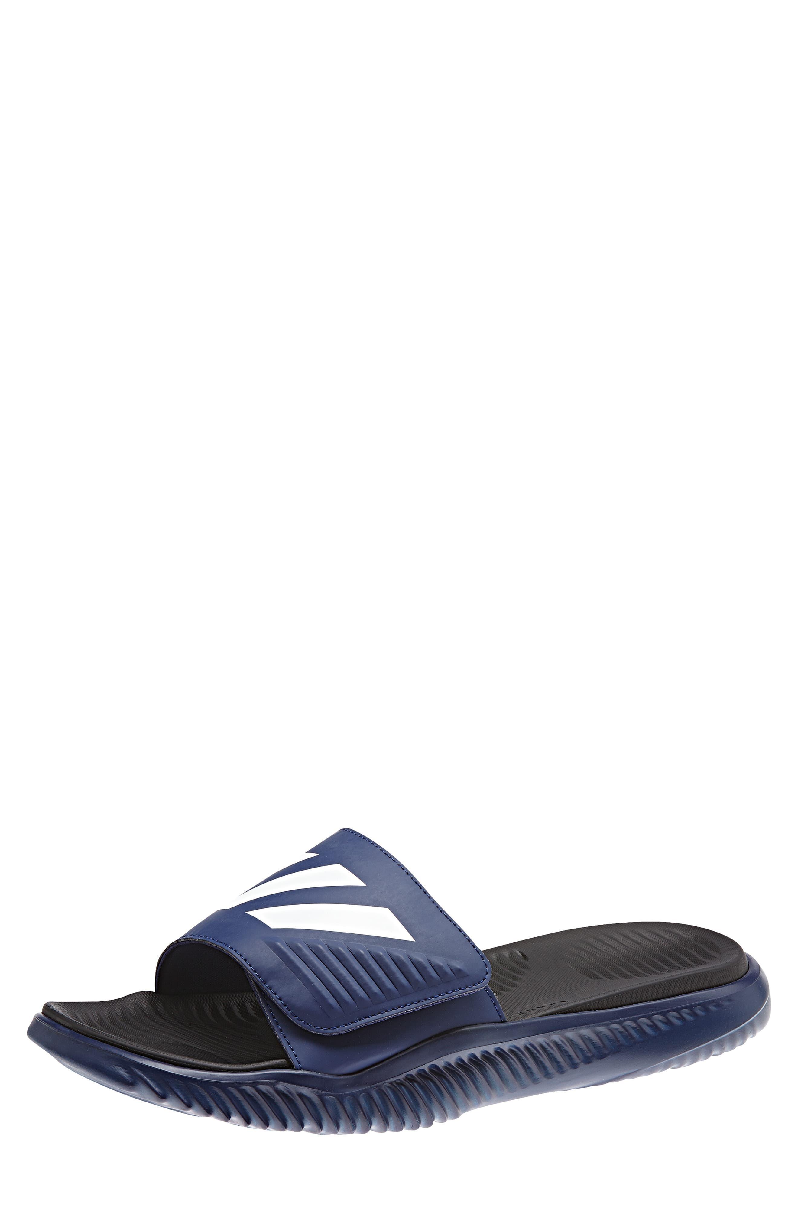 buy popular d4d5c c44d1 Adidas - Blue Alphabounce Slide Sandal for Men - Lyst. View fullscreen