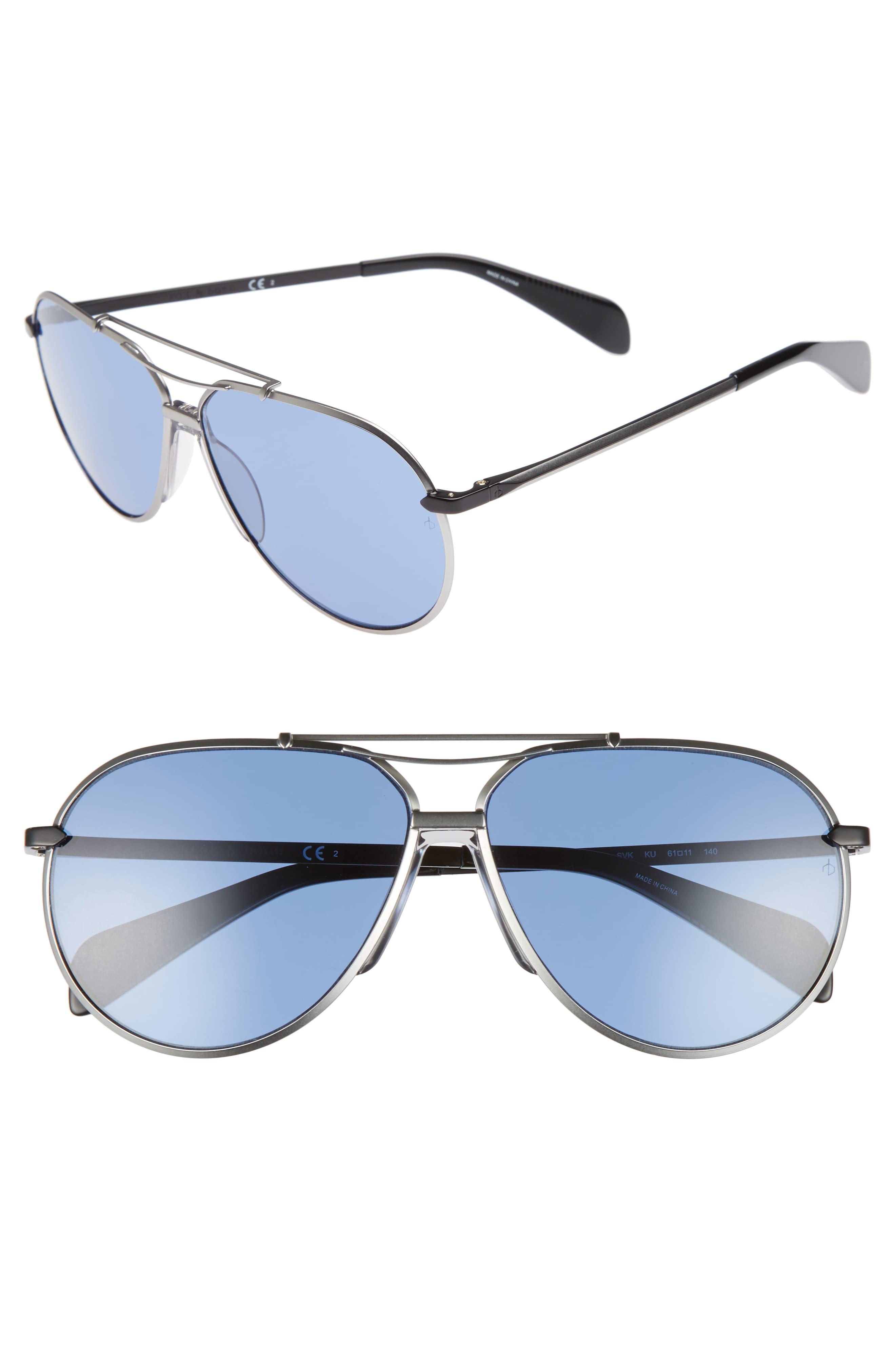 d36976b43237 Lyst - Rag & Bone 61mm Aviator Sunglasses in Metallic for Men