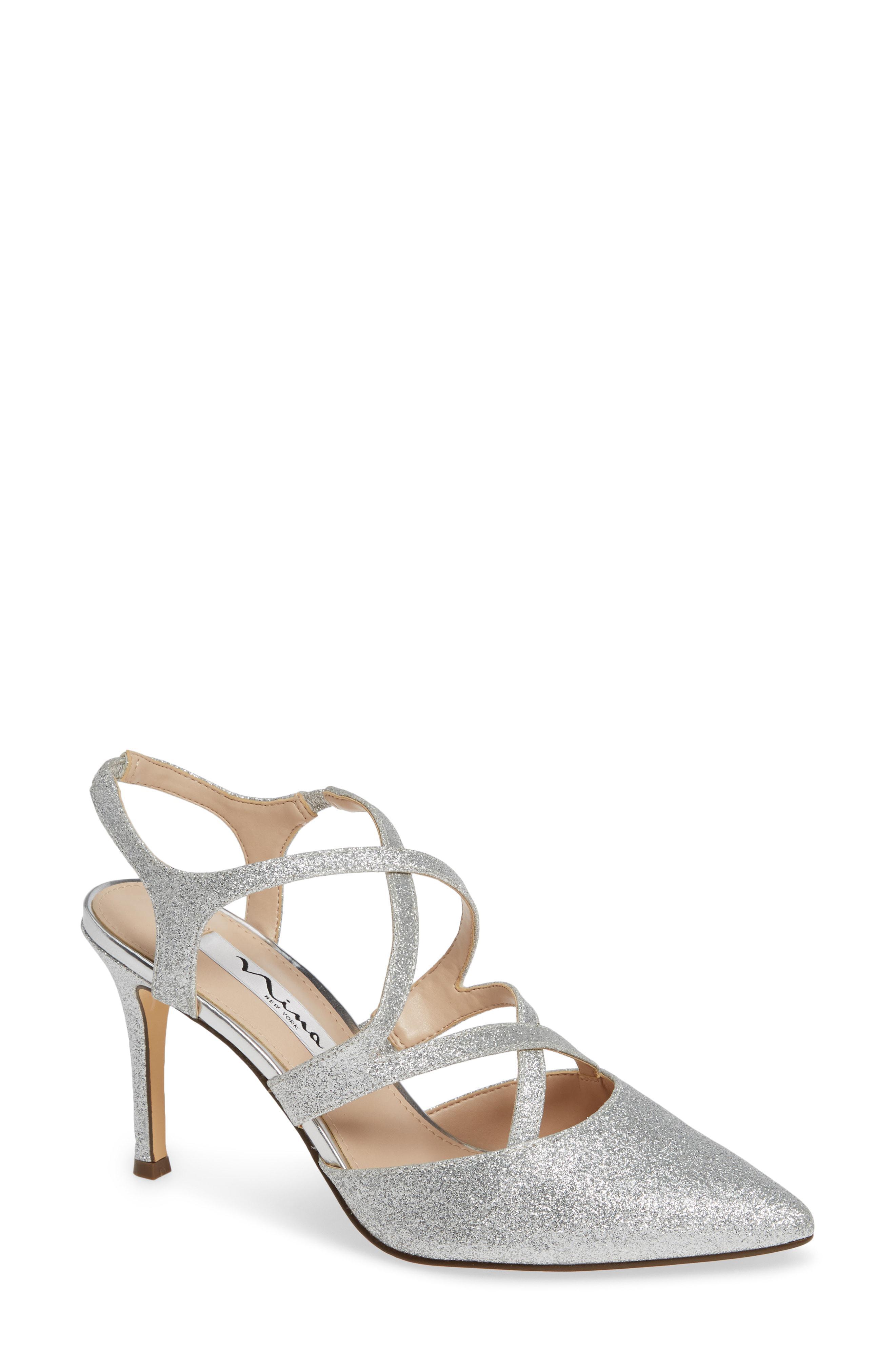 83a457c734c0 Lyst - Nina Cianna Strappy Sandal in Metallic