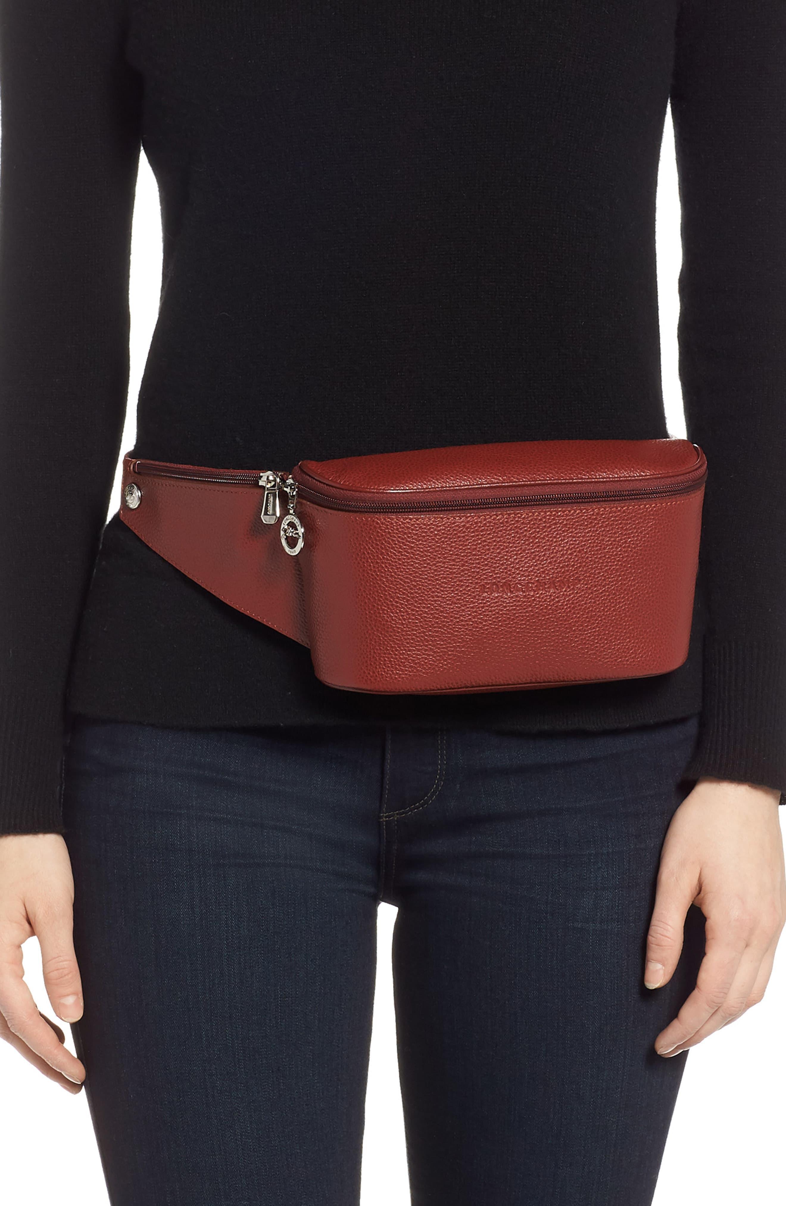 Le Foulonné Leather Belt Bag -