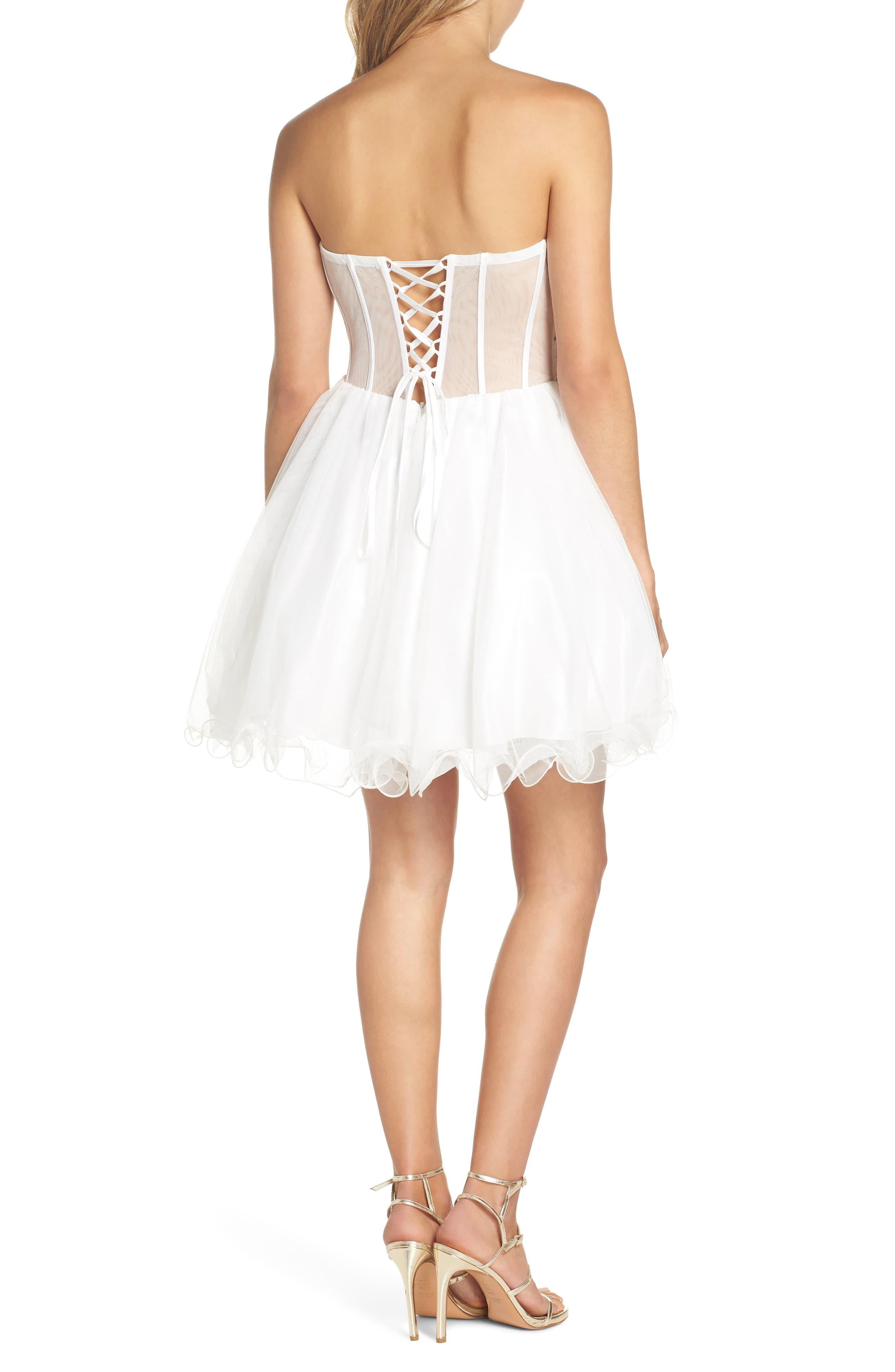 1c83c80f4f1 Blondie Nites - White Embroidered Lace Fit   Flare Dress - Lyst. View  fullscreen