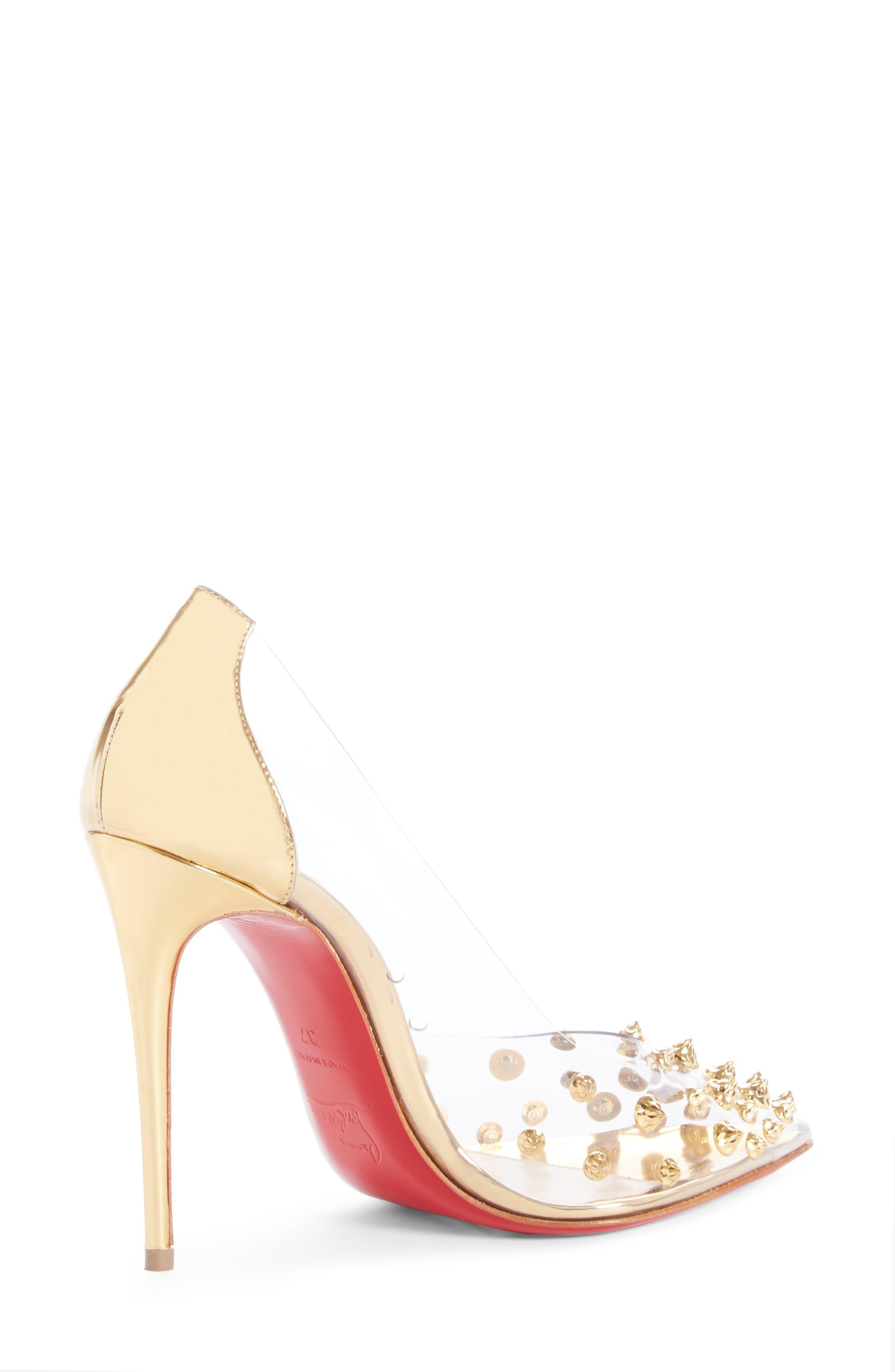8cc0b5b7d6d Christian Louboutin Metallic Collaclou Spike Pump