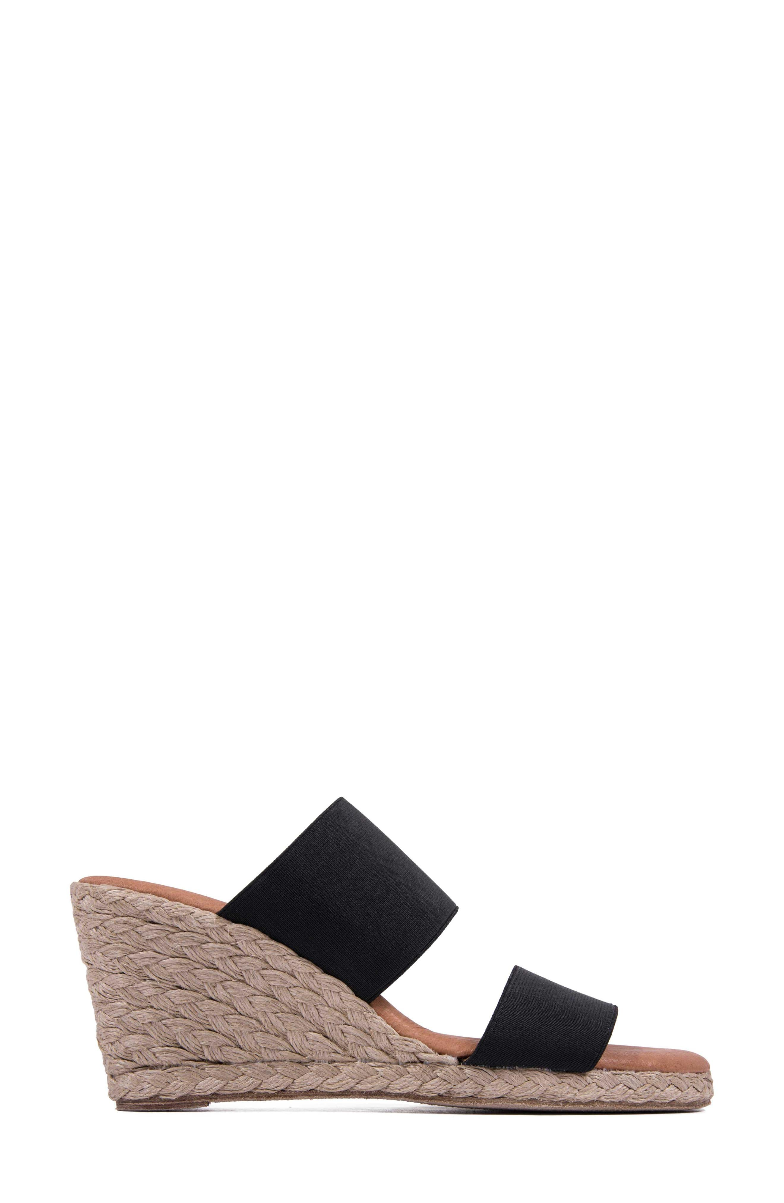 eed835dc777 Andre Assous Amalia Strappy Espadrille Wedge Slide Sandal in Black ...