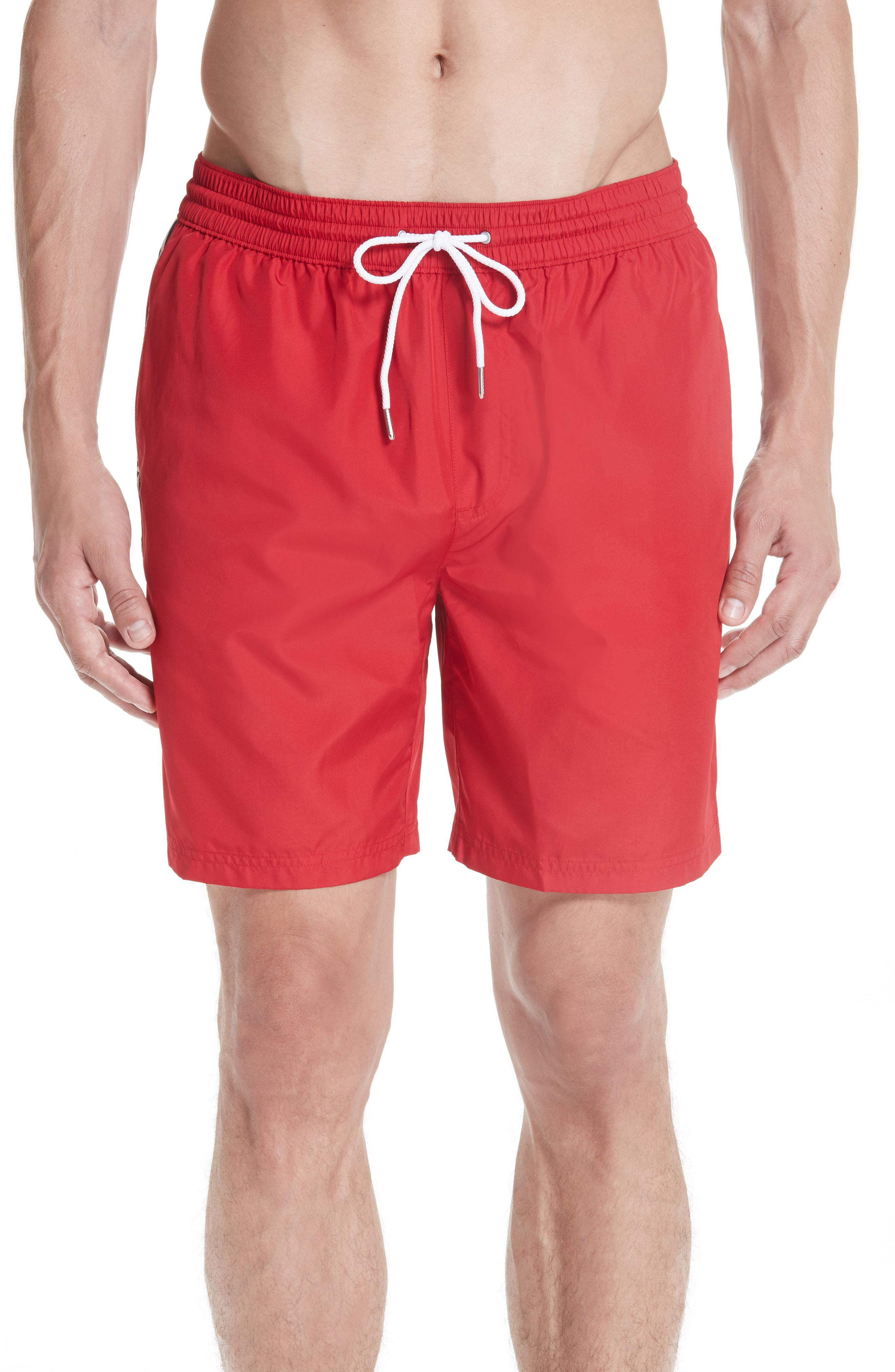 2bcc212b72d Lyst - Burberry Guildes Swim Trunks in Red for Men - Save 60%